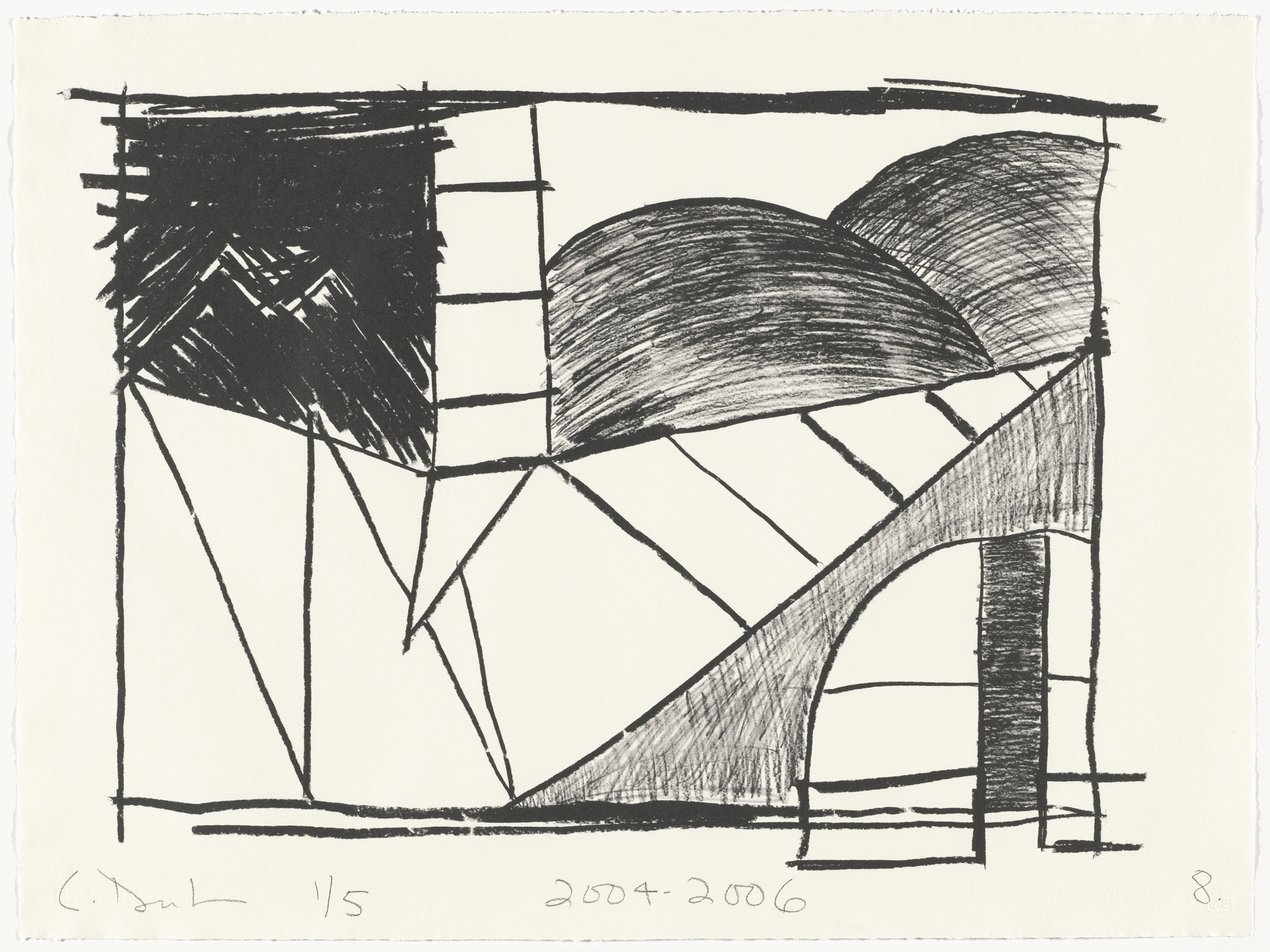 Carroll Dunham. Untitled (8) from Untitled. 2004-06