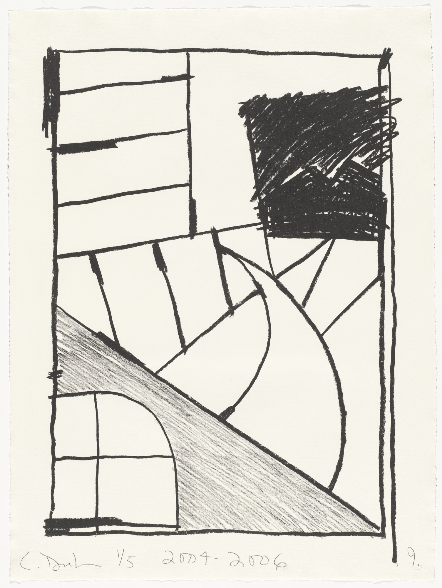 Carroll Dunham. Untitled (9) from Untitled. 2004-06