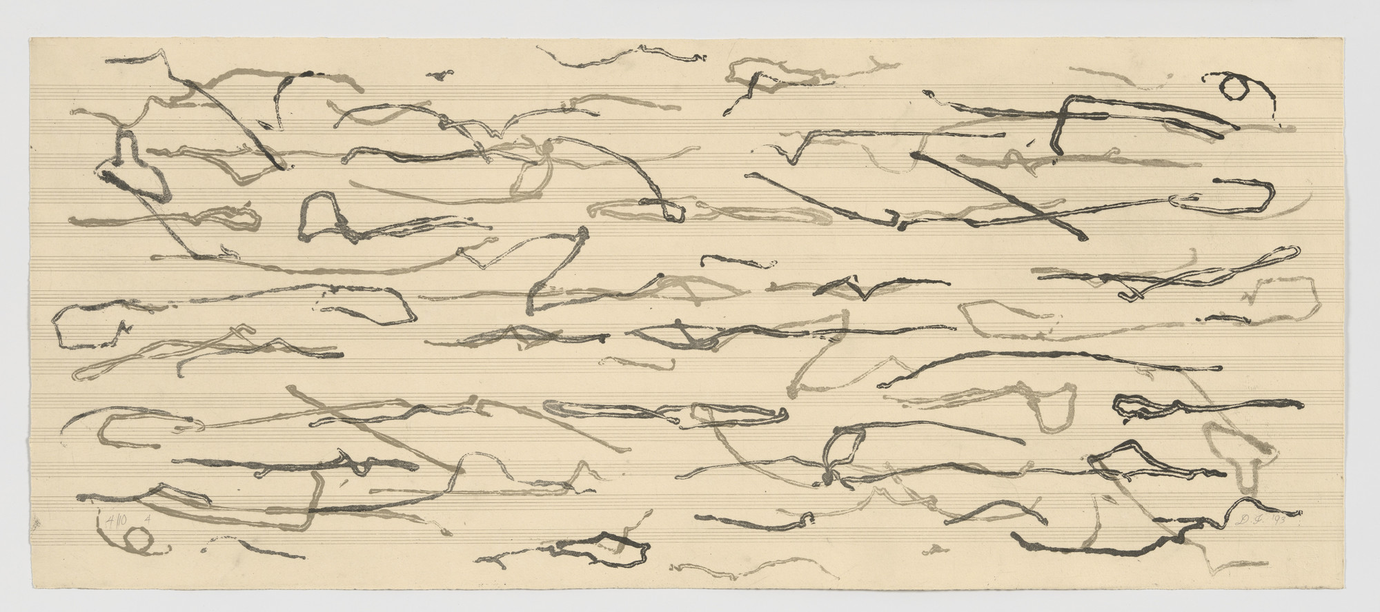 David Ireland. Untitled from A variation on 79, side to side passes on a dumball, dedicated to the memory of John Cage 1912-1992. 1993