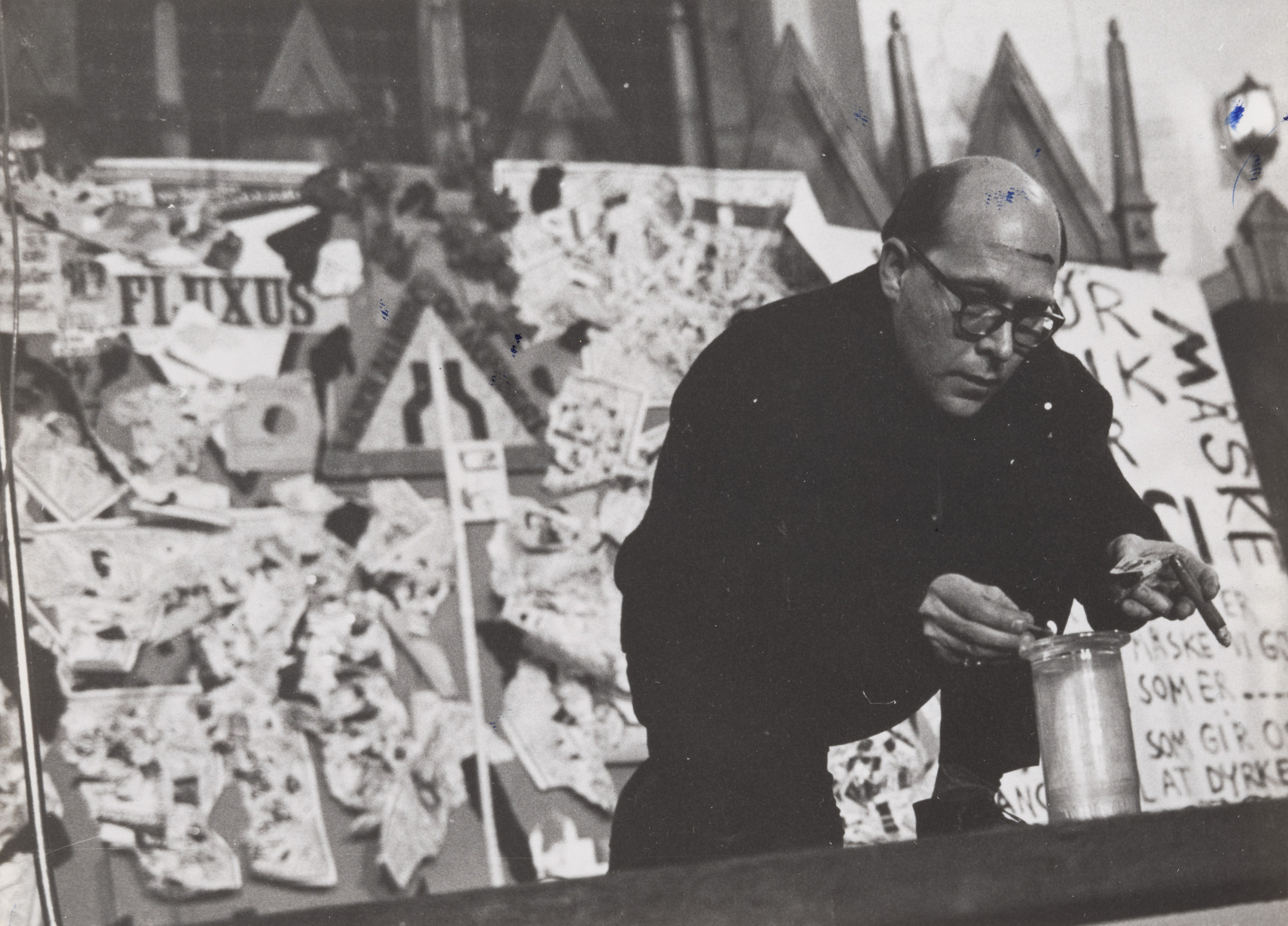 Emmett Williams. Alphabet Symphony, performed during Fluxus/Musik og Anti-Musik/det Instrumentale Teater, Nikolai Kirke, Copenhagen, November 23, 1962. 1962