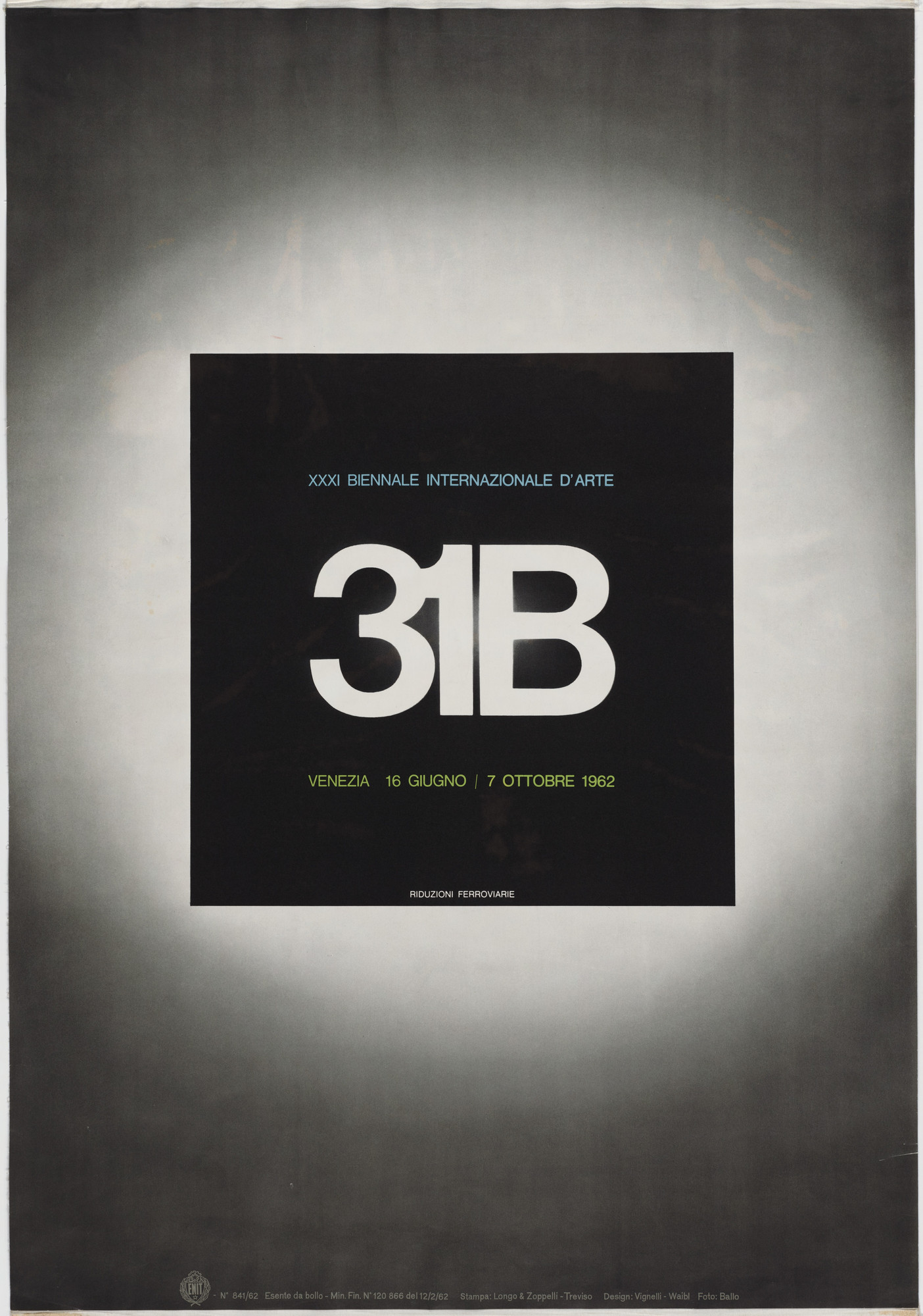 Lella Vignelli, Massimo Vignelli, Guido Ballo. 31st International Biennale of Art. 1962