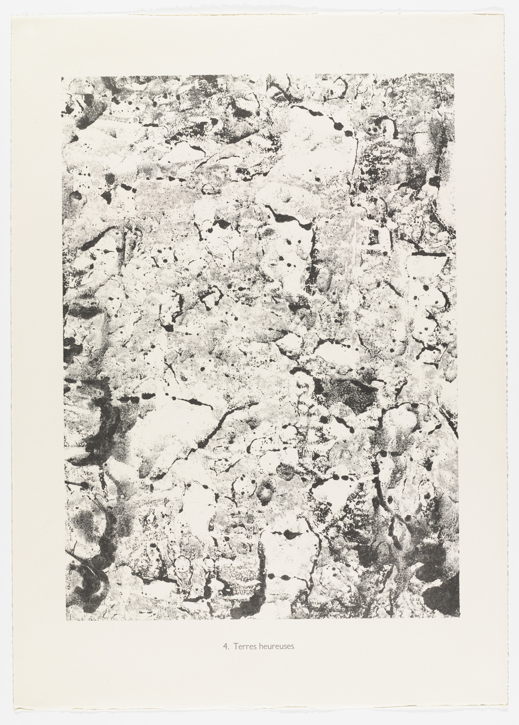 Jean Dubuffet. Happy Earths (Terres heureuses) from Elements, Moments (Eléments, Moments) from Phenomena (Les Phénomènes). 1959