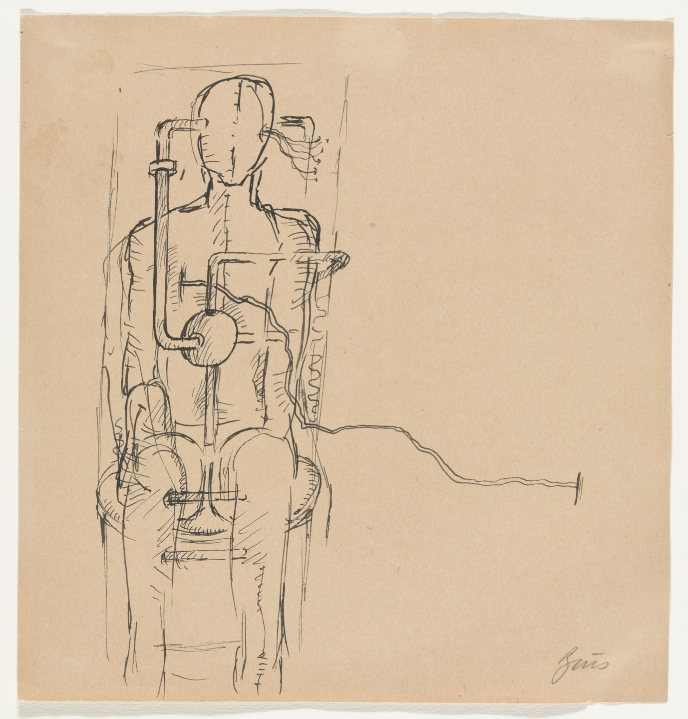 Günter Brus. Untitled (action drawing). (1960s)