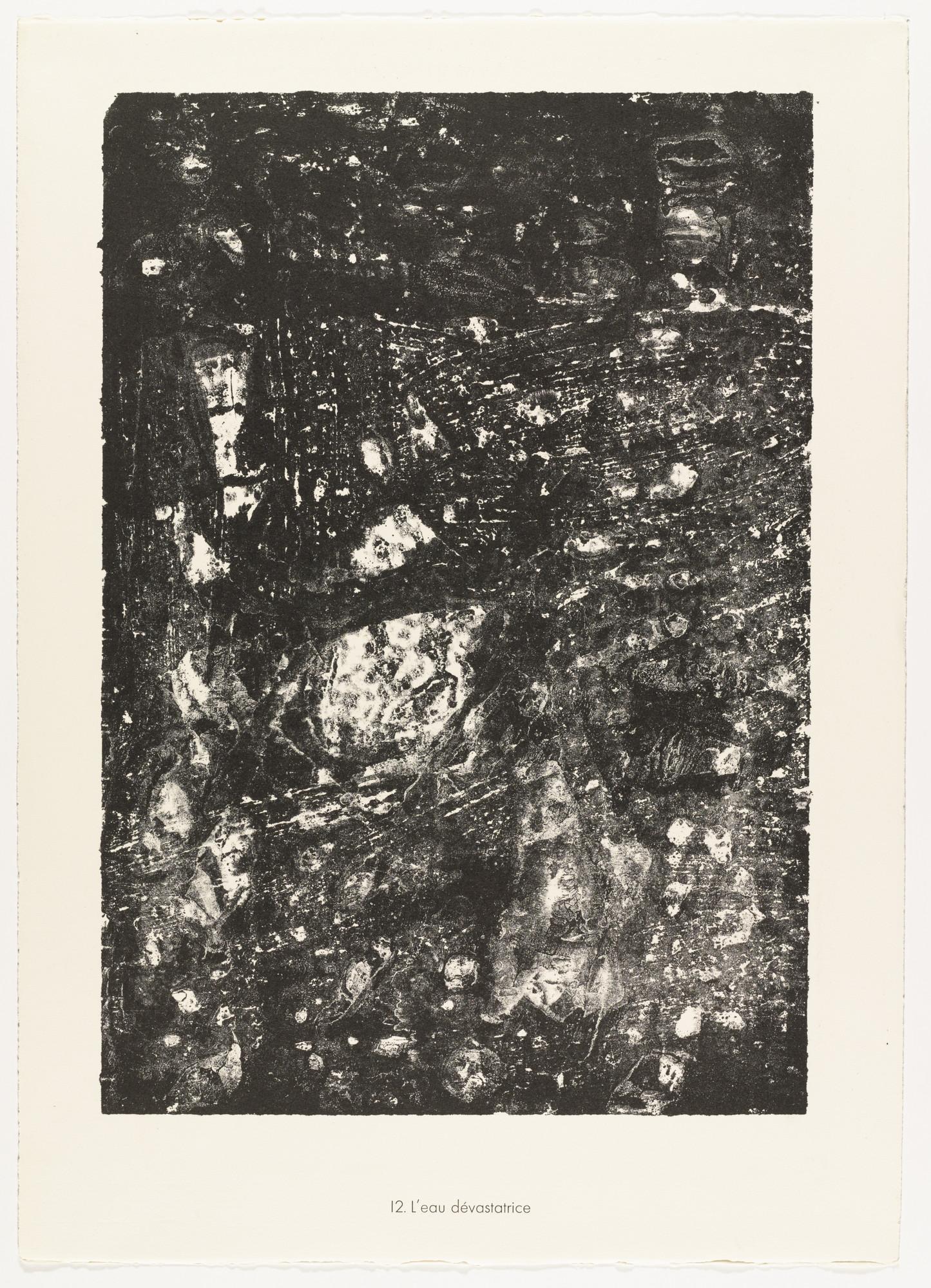 Jean Dubuffet. Devastating Water (L'eau dévastatrice) from the portfolio Waters, Stones, Sand (Eaux, Pierres, Sable) from Phenomena (Les Phénomènes). 1959