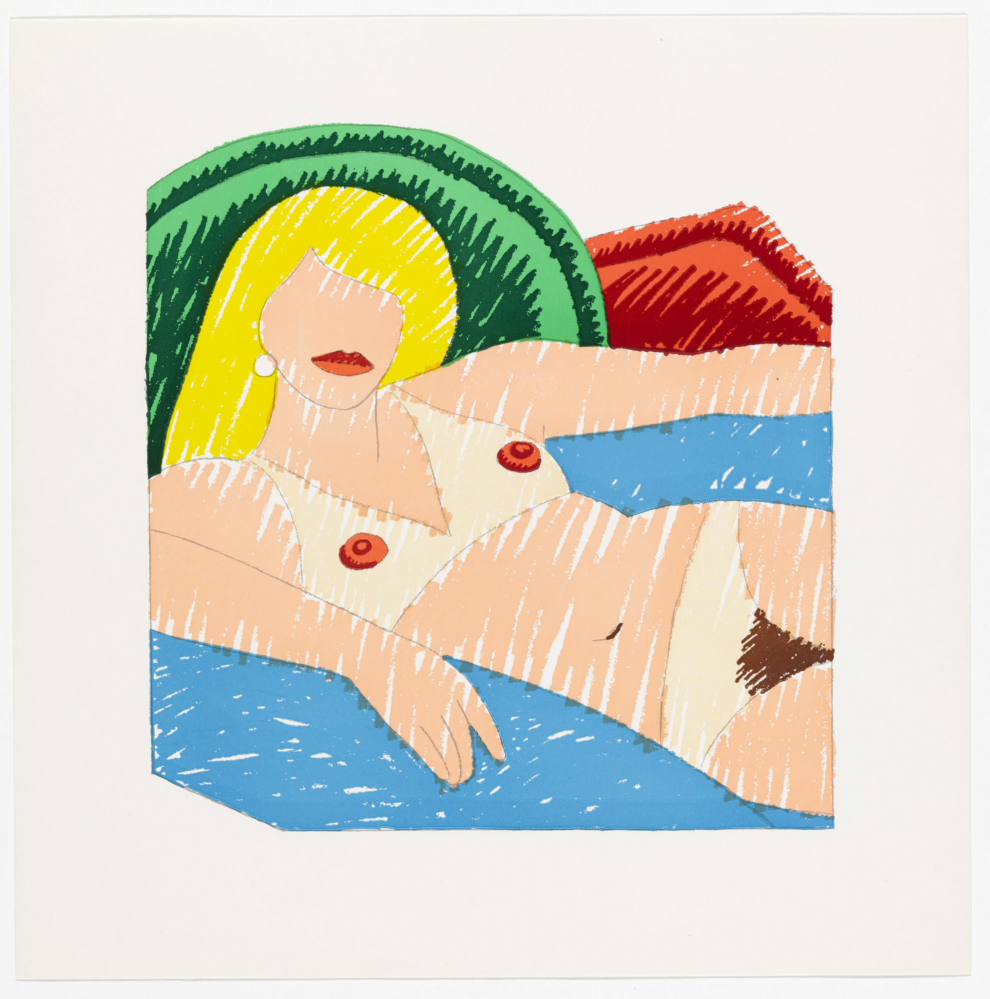 Tom Wesselmann. Shiny Nude from the Rubber Stamp Portfolio. 1977