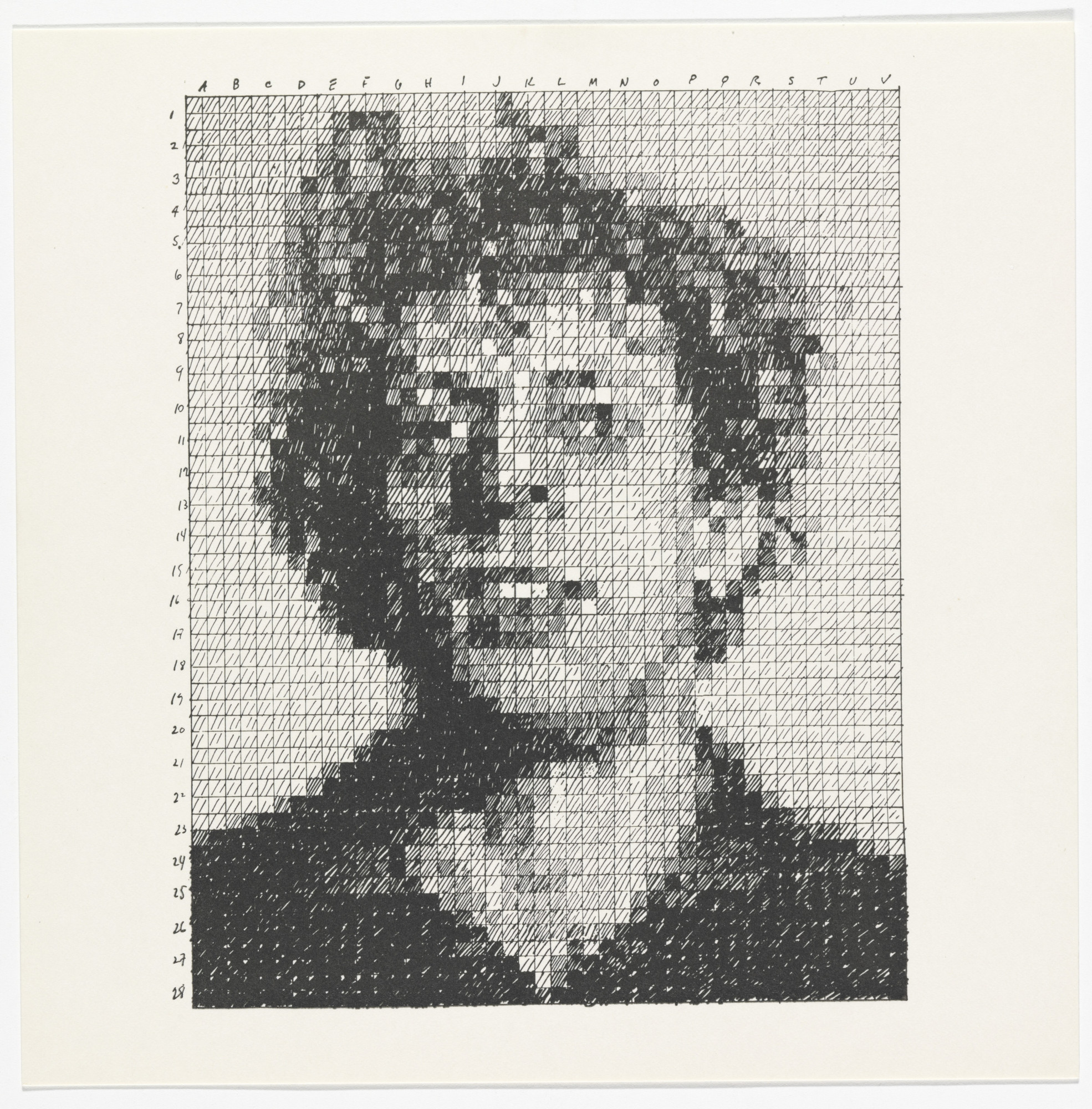 Chuck Close. Phil from the Rubber Stamp Portfolio. 1976, published 1977