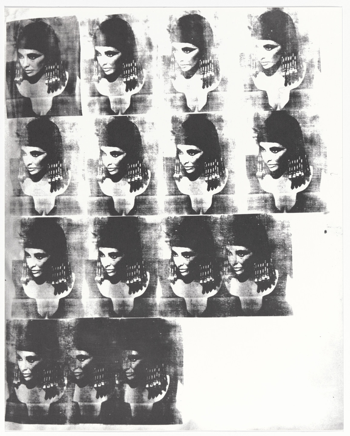 Andy Warhol. Portraits from Artists & Photographs. 1970
