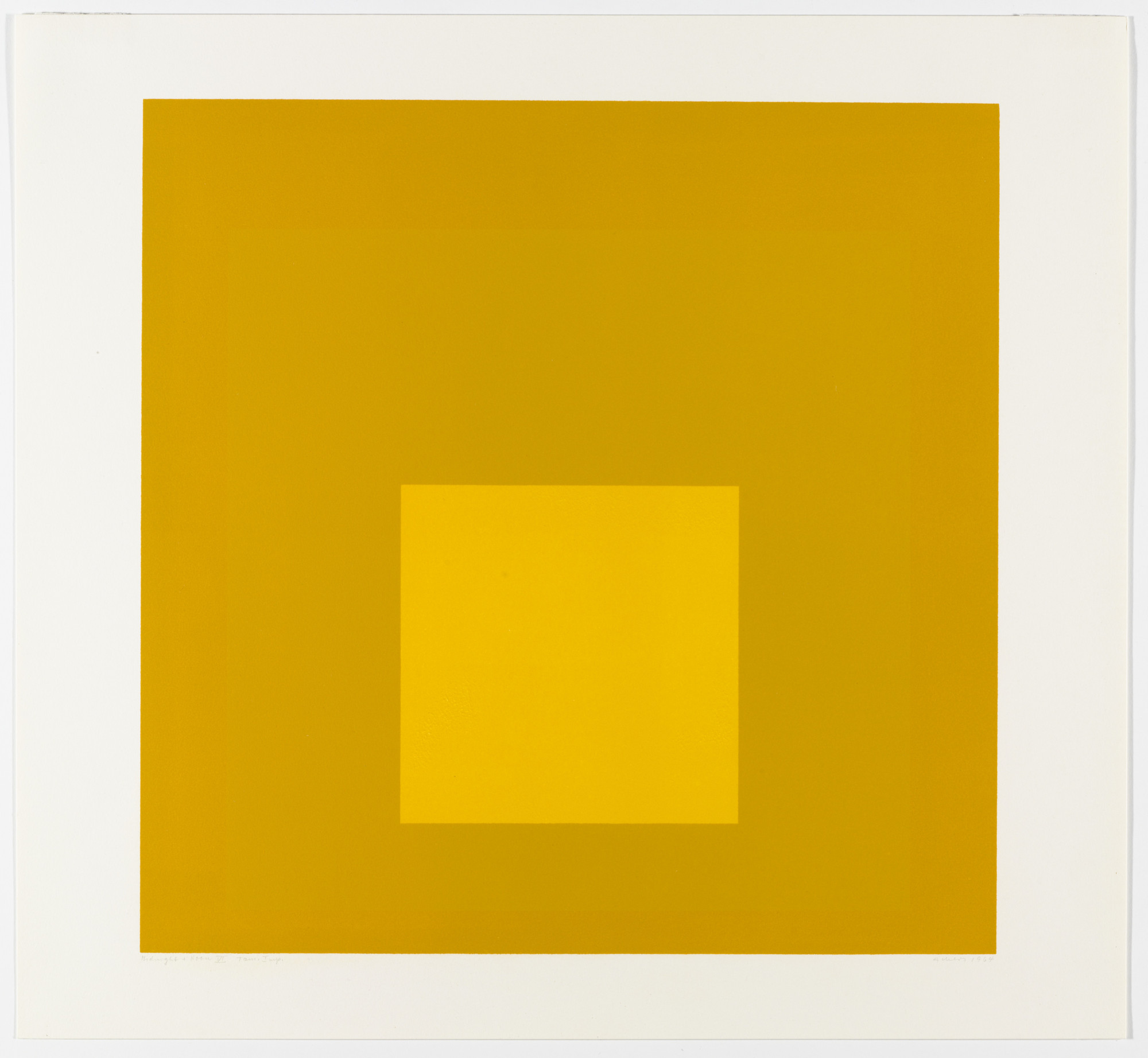 Josef Albers. Midnight + Noon VI from Midnight and Noon. 1964
