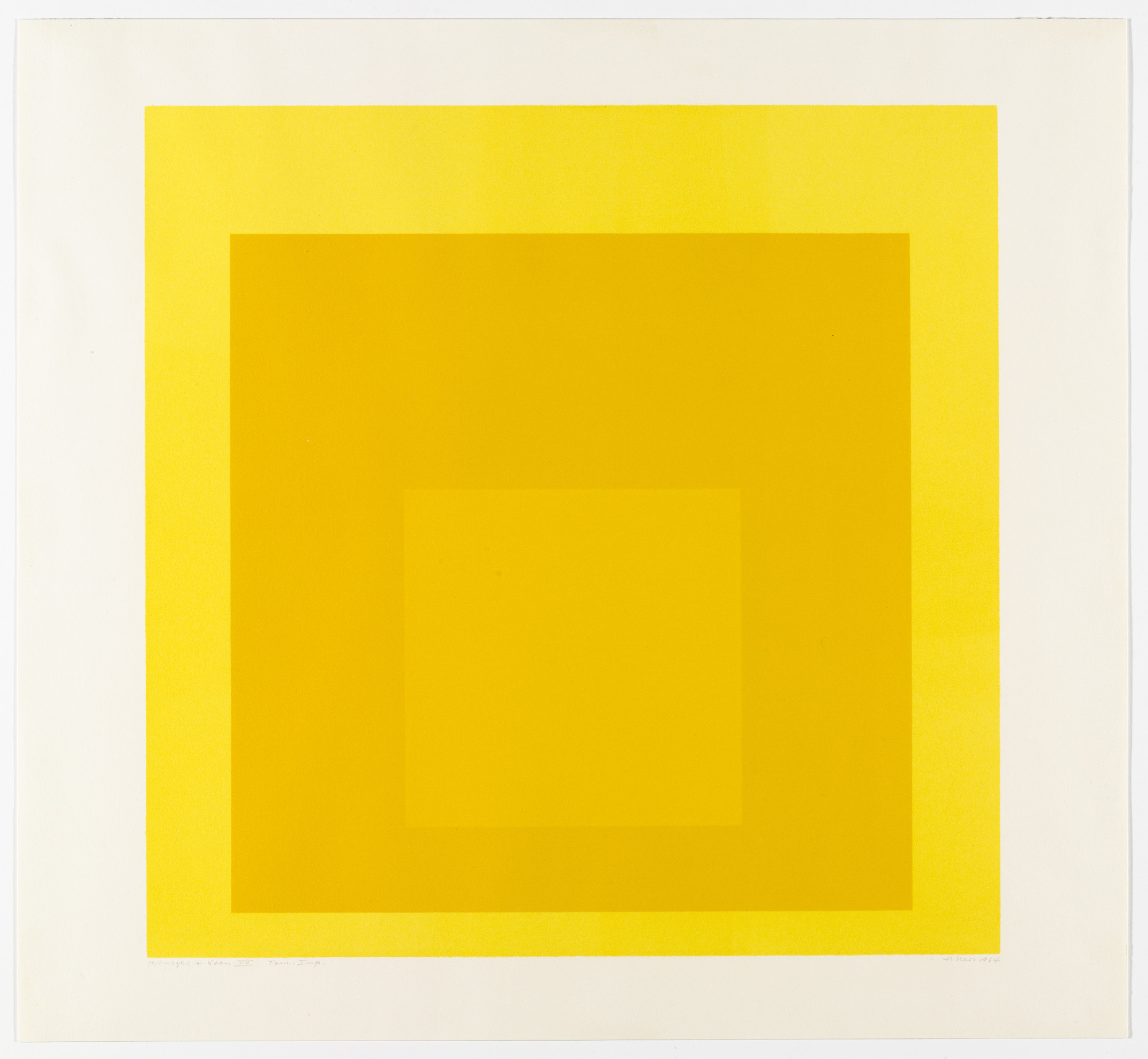 Josef Albers. Midnight + Noon VII from Midnight and Noon. 1964
