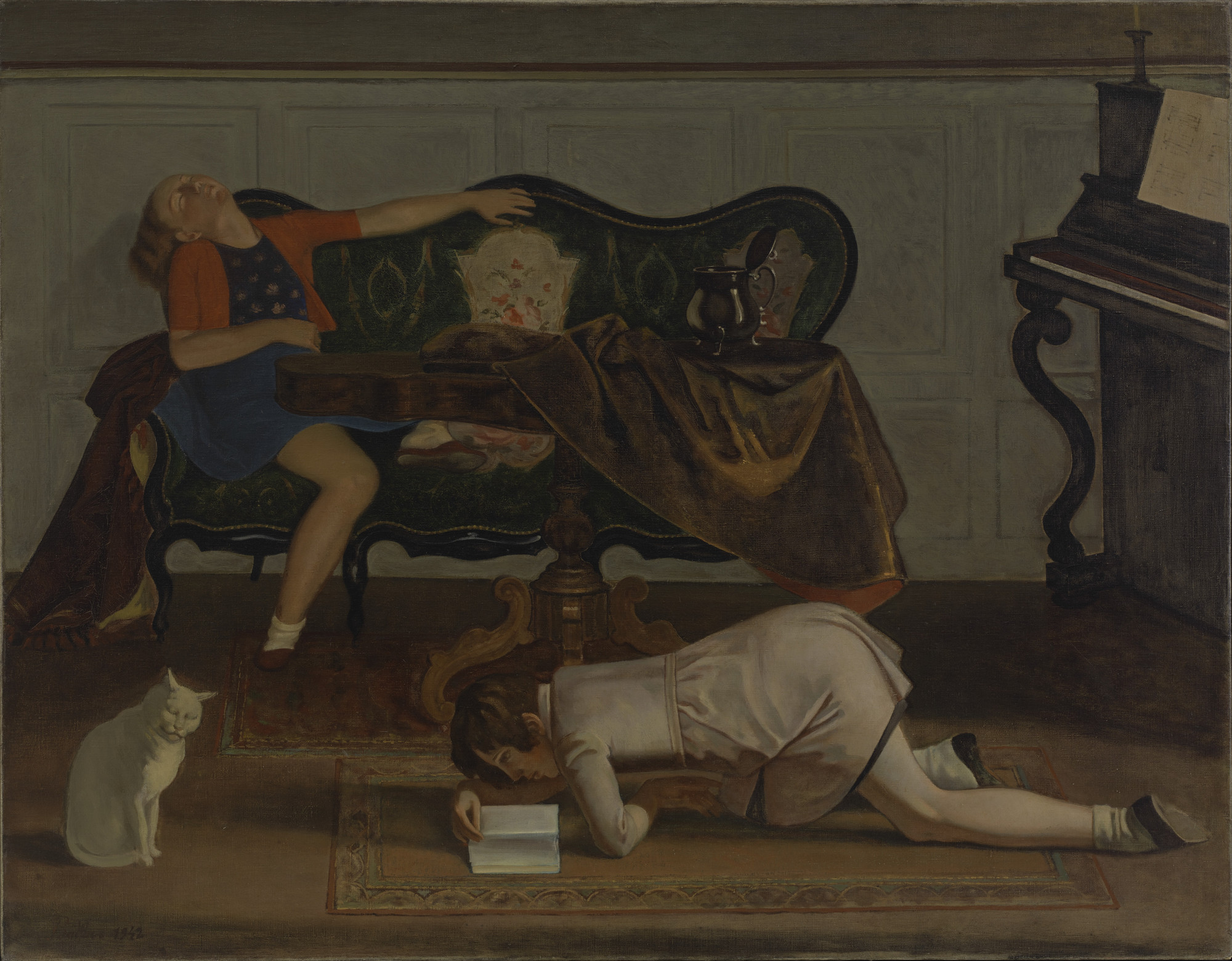 Balthus (Baltusz Klossowski de Rola). The Living Room. 1942