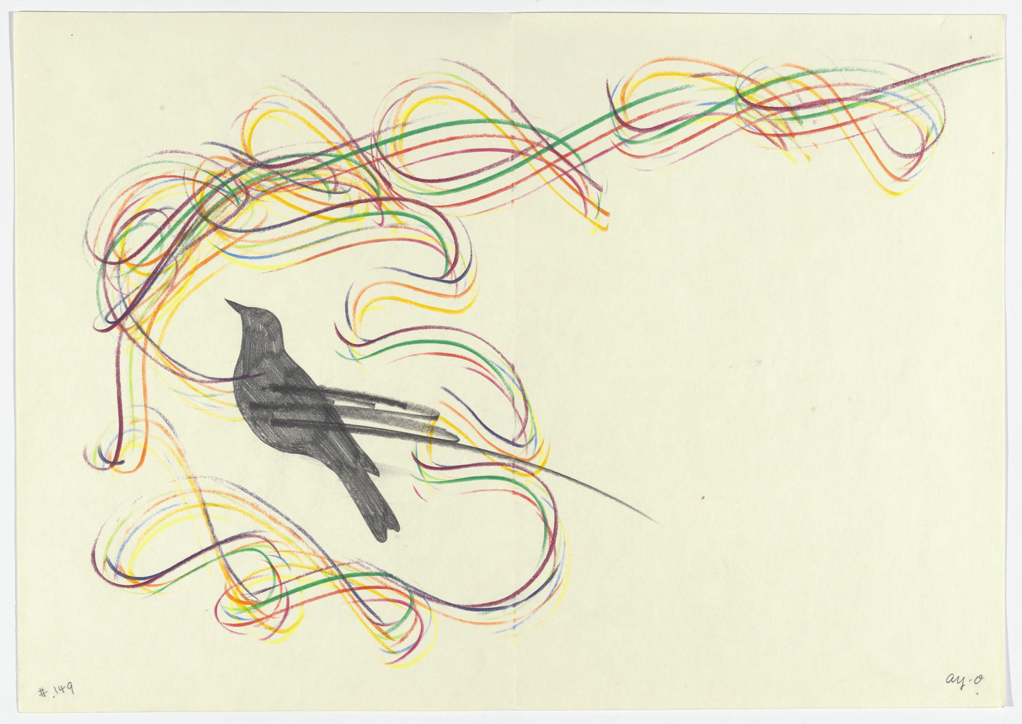 Ay-O. Double page plate (folios 9 and 10 verso) from Ouzel. 1971, published 1972