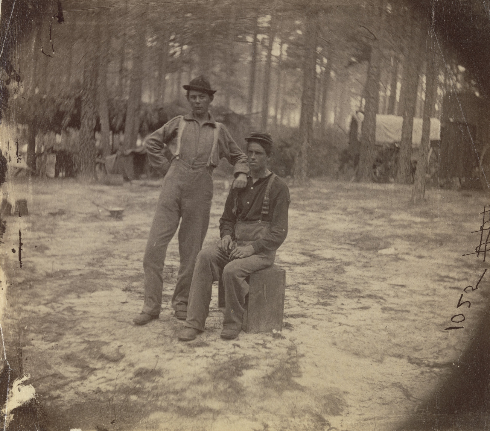 Unknown photographer. Two Soldiers, American Civil War. 1860-64