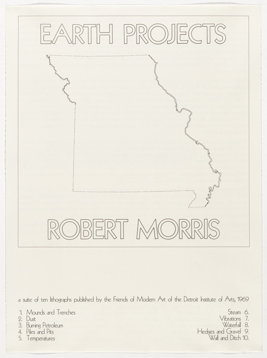 Robert Morris. Earth Projects. 1969