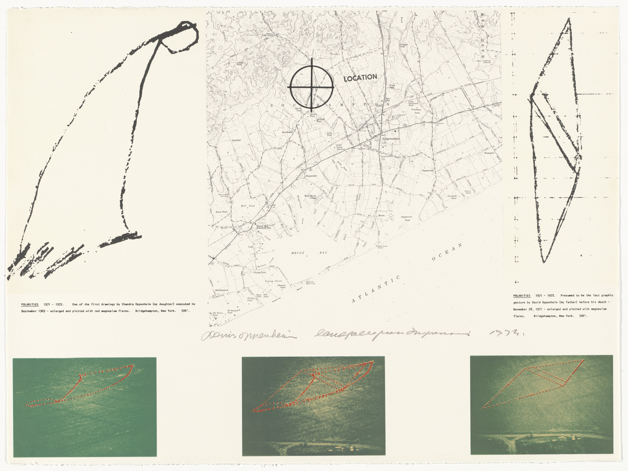Dennis Oppenheim. Polarities. 1972 from Projects by Dennis Oppenheim. 1973