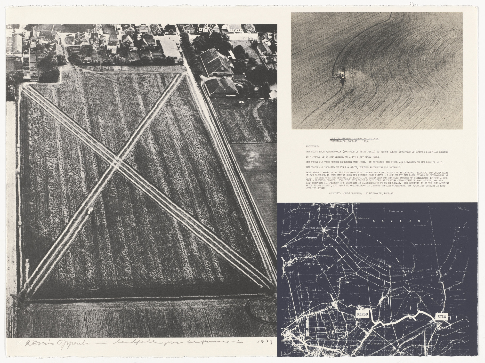 Dennis Oppenheim. Cancelled Crop - Direct Seeding. 1969 from Projects by Dennis Oppenheim. 1973