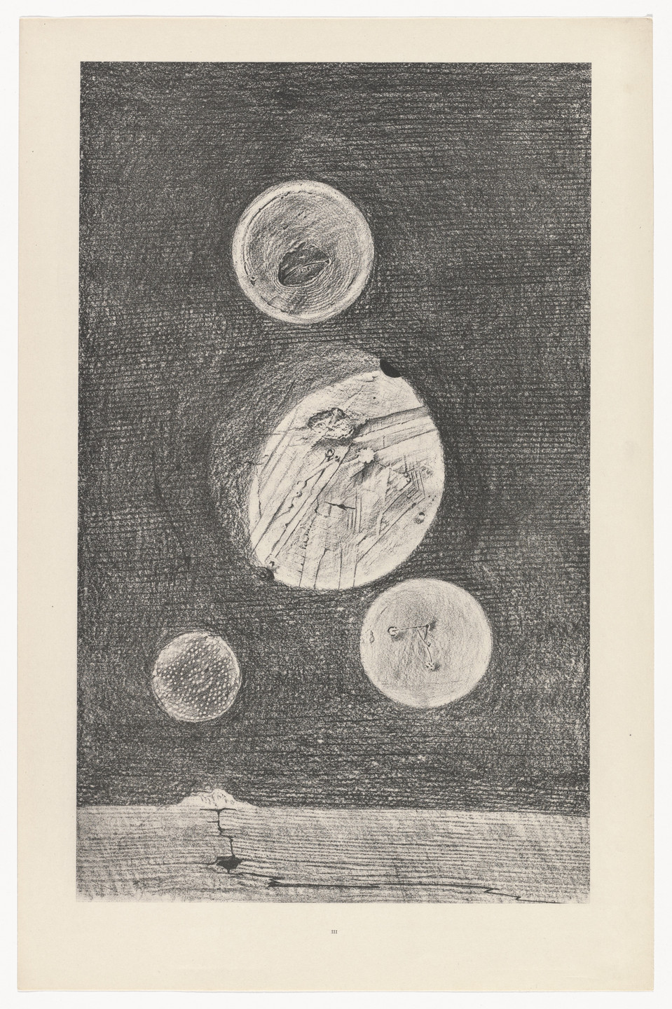 Max Ernst. Little Tables around the Earth (Petites tables autour de la terre) from Natural History (Histoire naturelle). c. 1925, published 1926