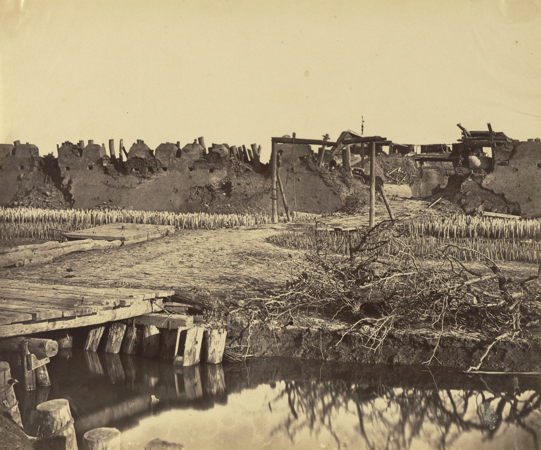 Felice Beato. Exterior of North Fort Showing English Entrance. 1860