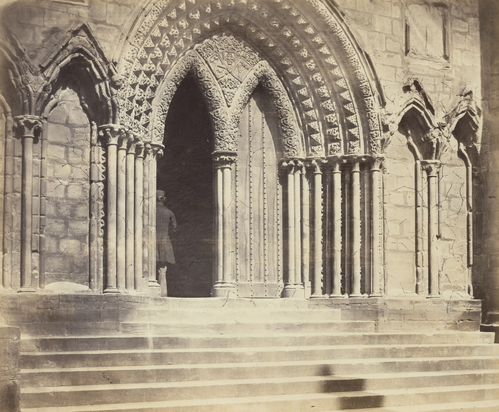 Roger Fenton. Lichfield Cathedral, Porch of the South Transept. c. 1855