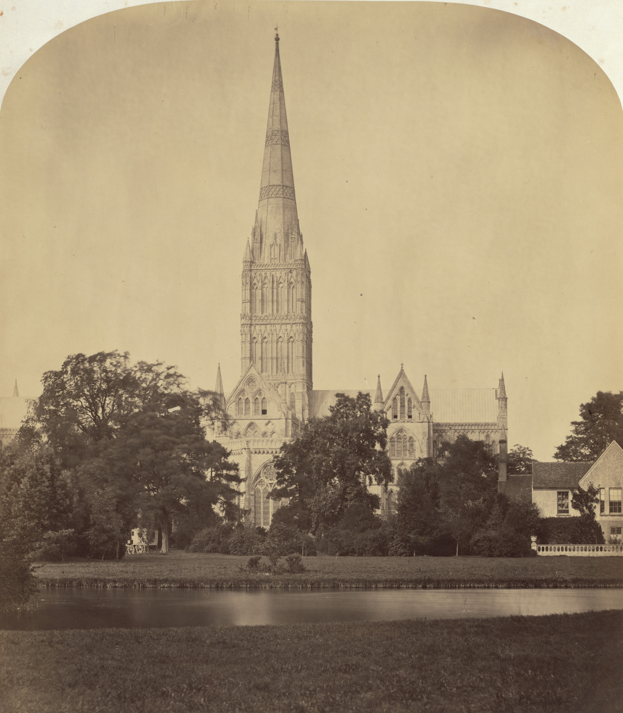 Roger Fenton. Salisbury Cathedral: The Spire. c. 1860