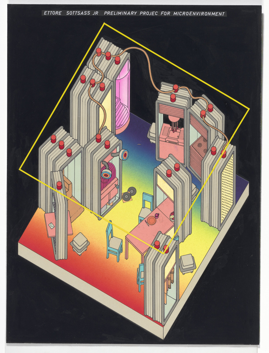 Ettore Sottsass. Preliminary Project for Microenvironment. c.1971