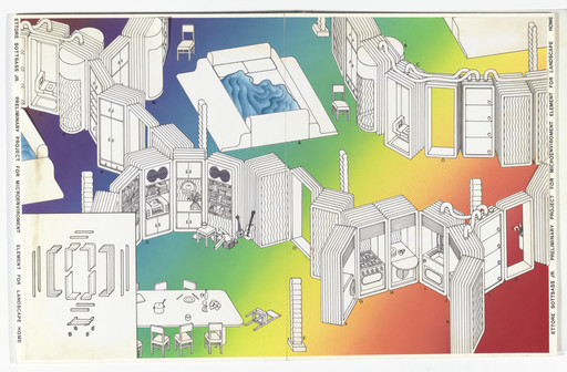 Ettore Sottsass. Preliminary Project for Microenvironment, Element for Landscape Home. c.1971
