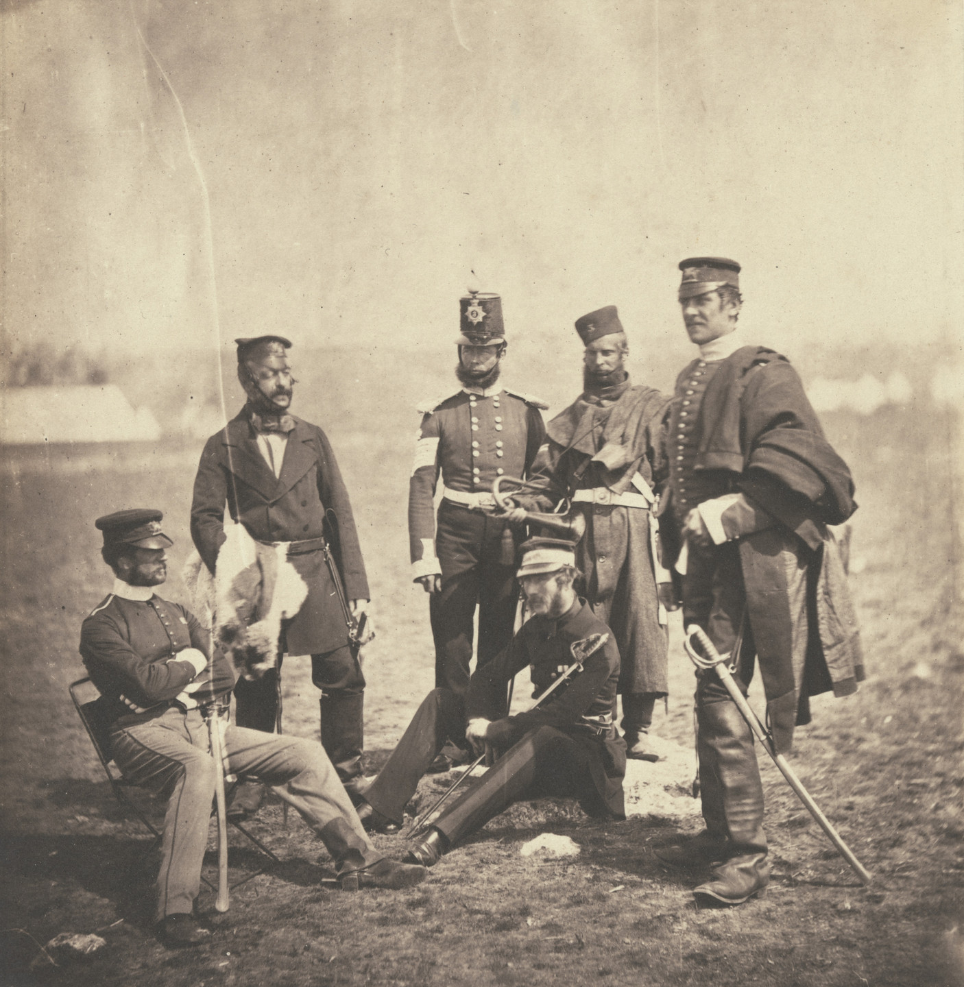 Roger Fenton. Brigadier General Van Straubenzee and Officers of the Buffs. 1855