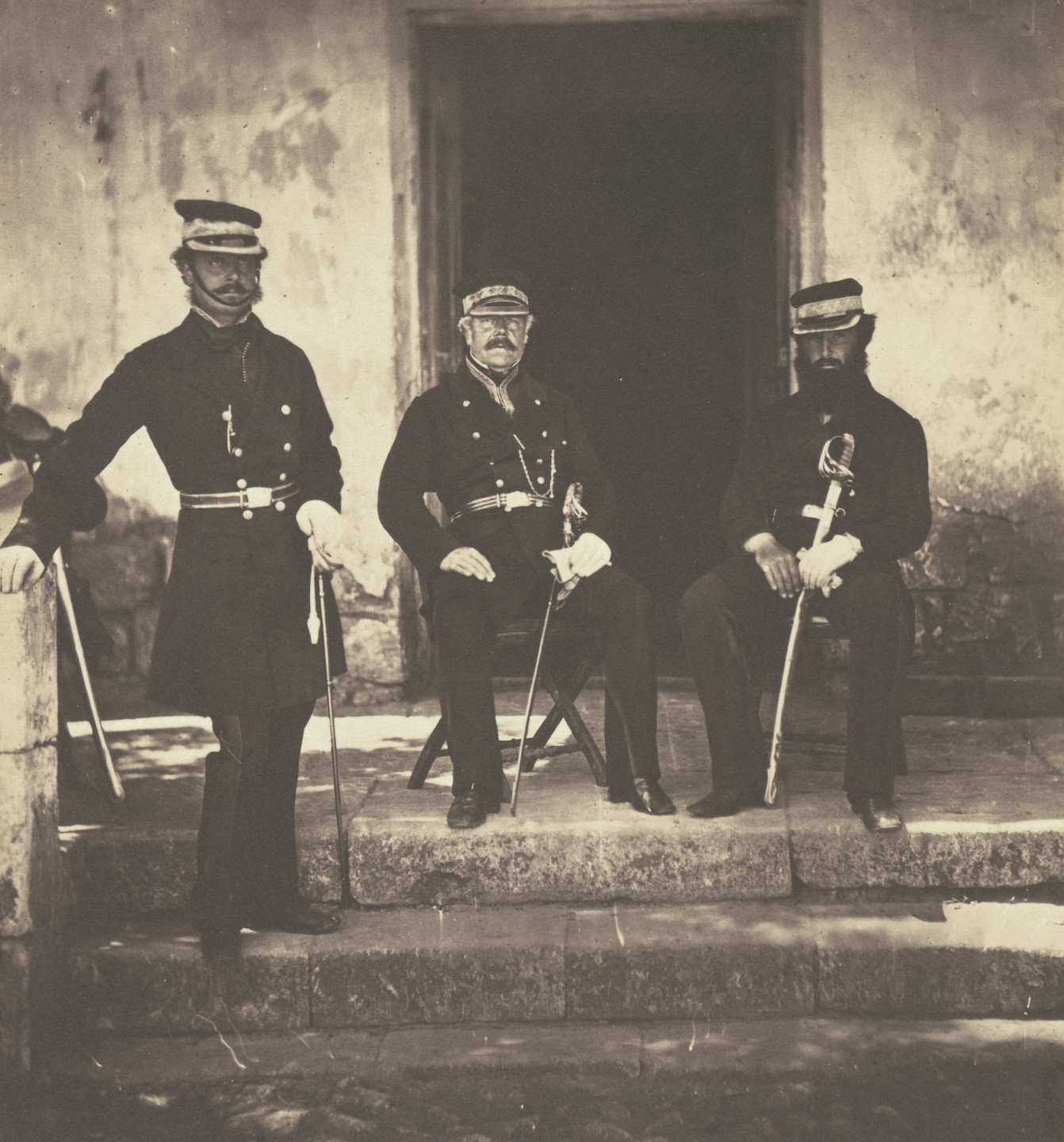 Roger Fenton. Major General Lockyer and Two of His Staff. 1856