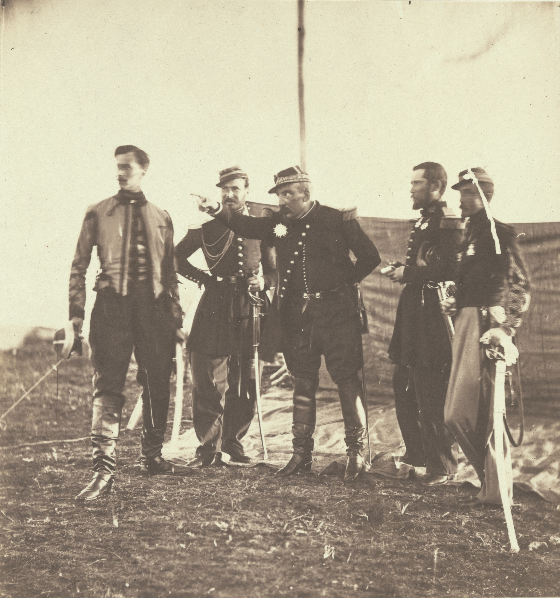 Roger Fenton. General Bosquet and Staff. 1855