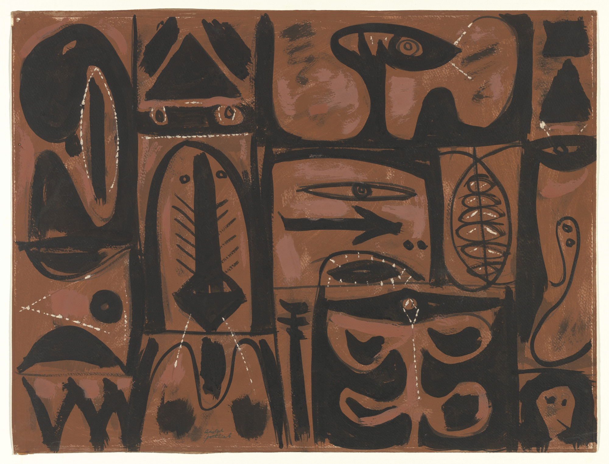 Adolph Gottlieb. Ashes of Phoenix. 1948