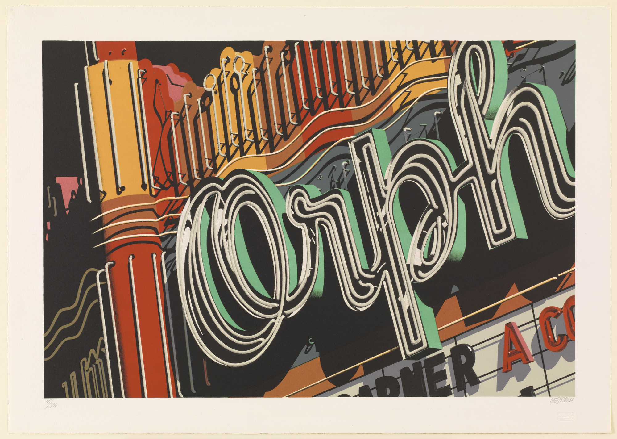 Robert Cottingham. Orph from Documenta: The Super Realists. 1972