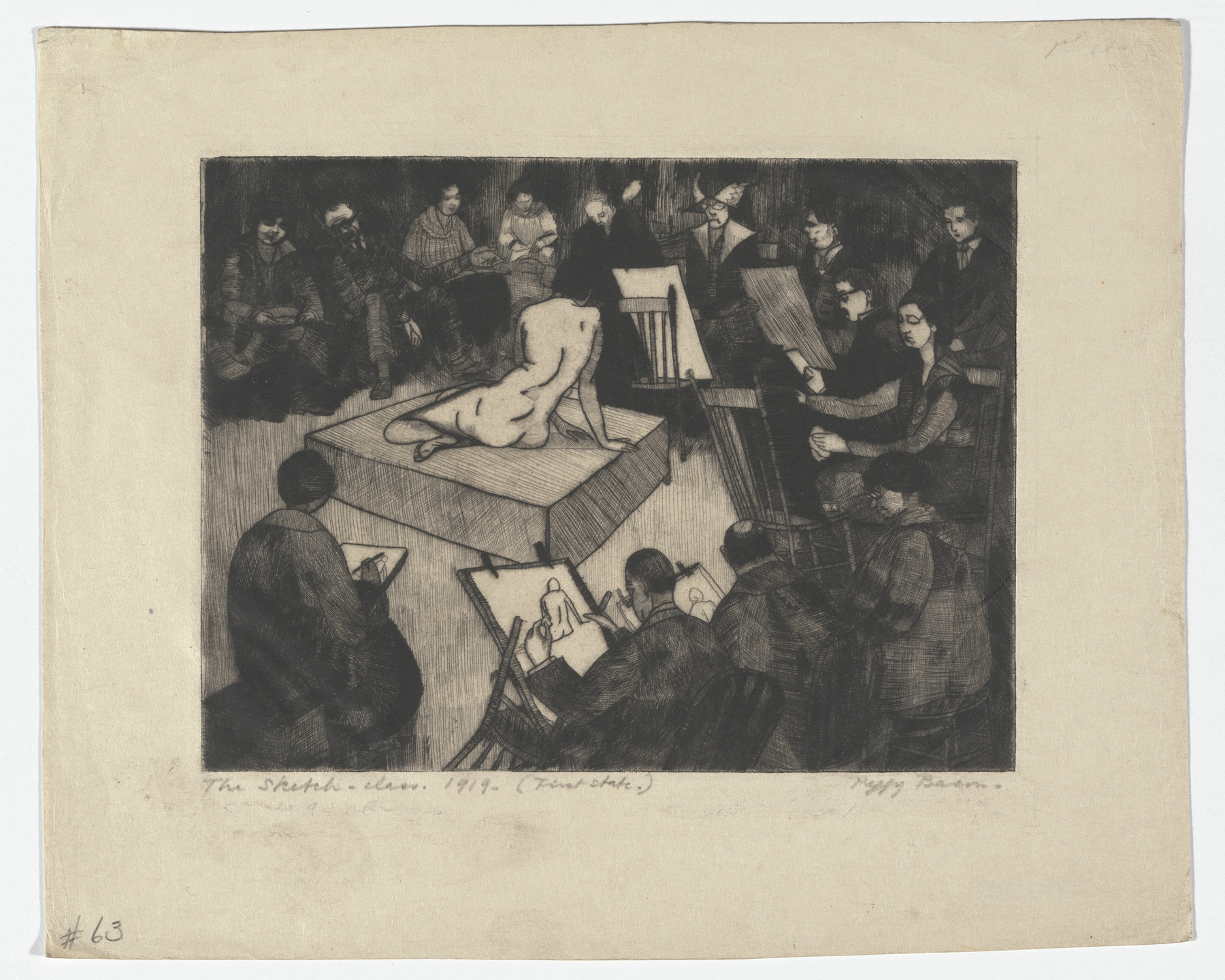Peggy Bacon. The Sketch Class. 1919