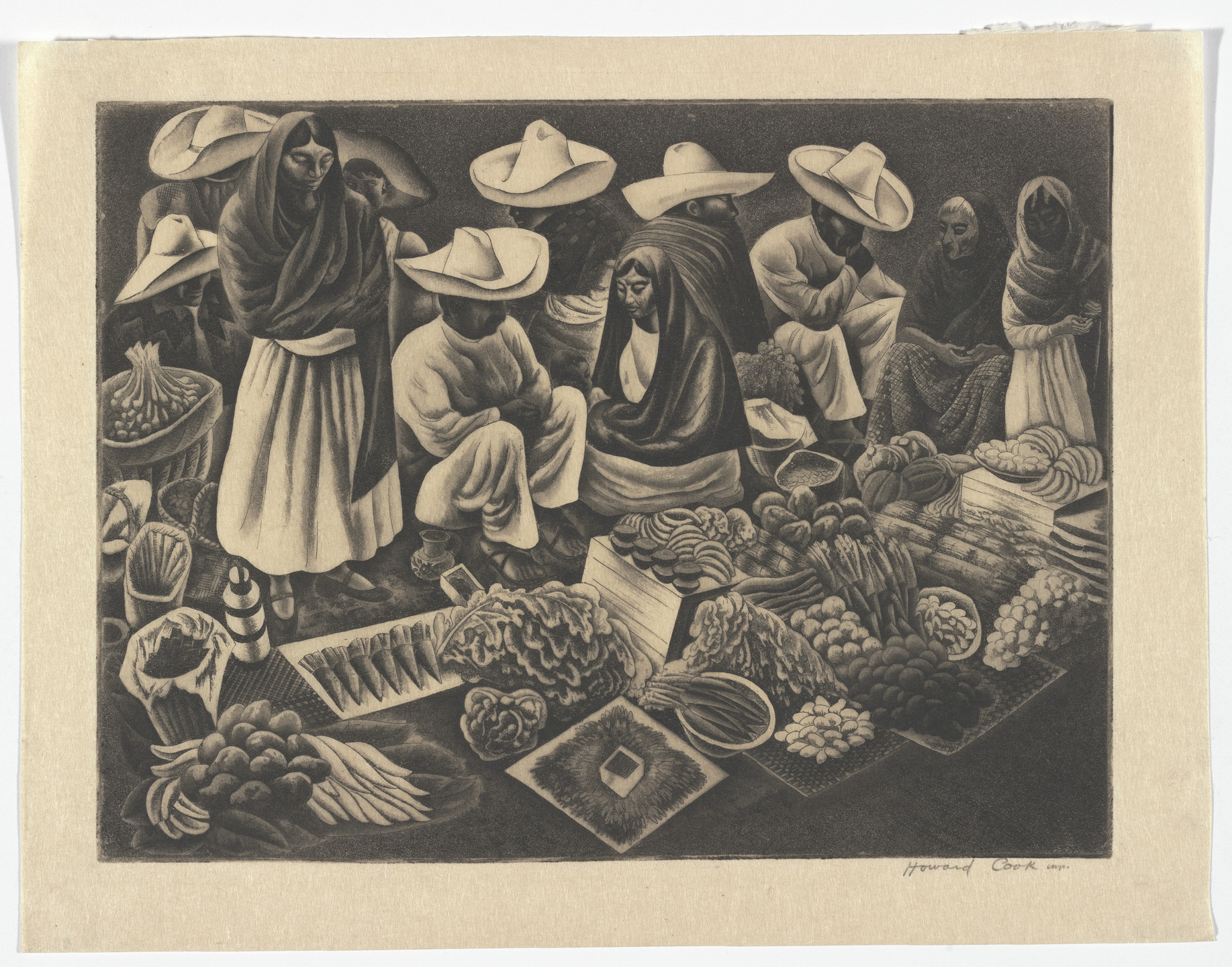 Howard Cook. Taxco Market. n.d.