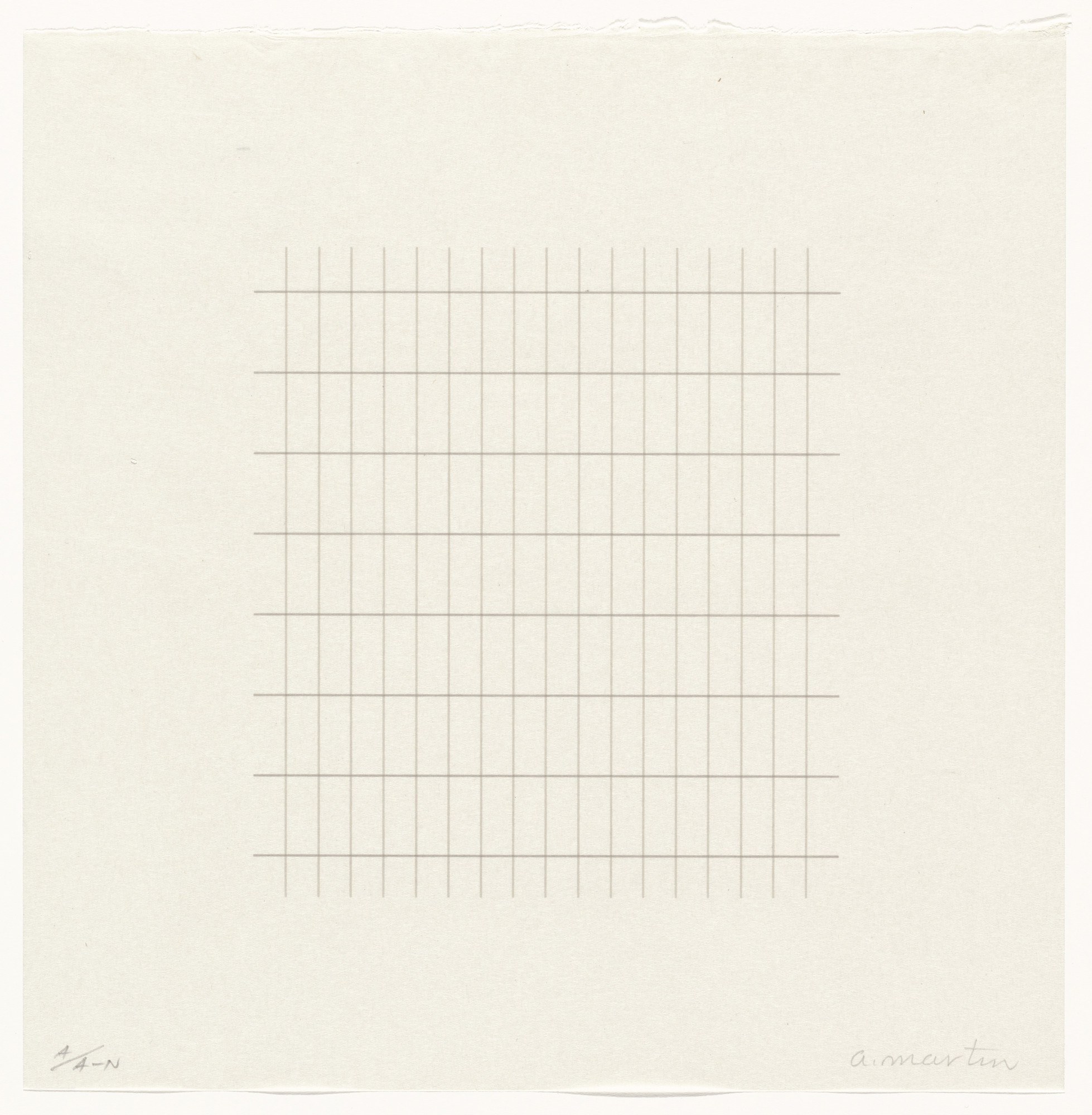 Agnes Martin. Untitled from On a Clear Day. 1973