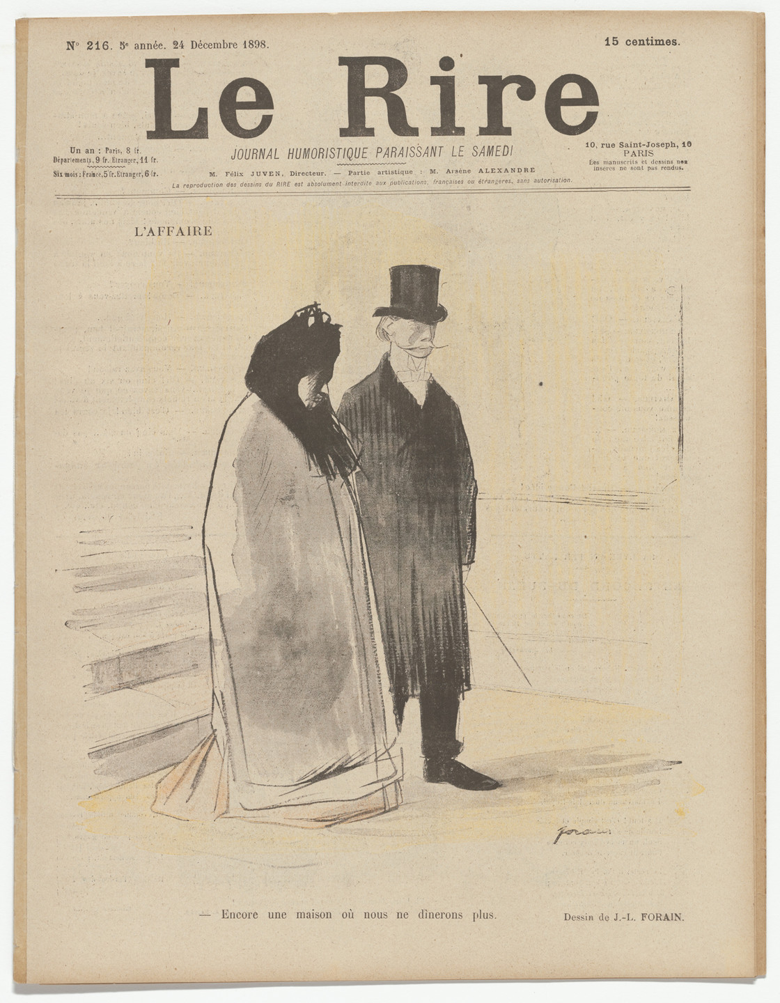 Jean-Louis Forain. The Affair (L'Affaire) from Laughter (Le Rire). December 24, 1898.