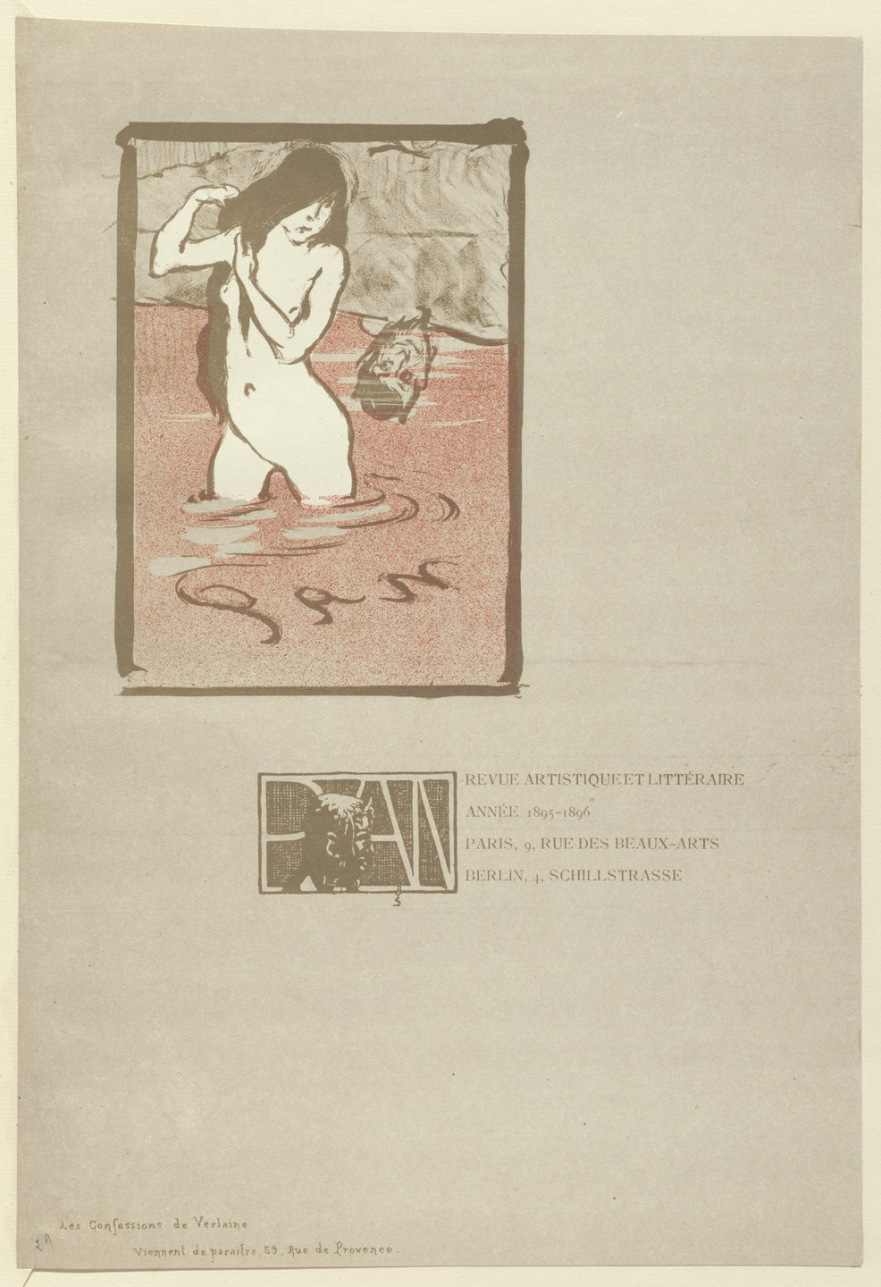 Maxime Dethomas. Advertisement for Pan from The Beraldi Album of Theatre Programs. 1895