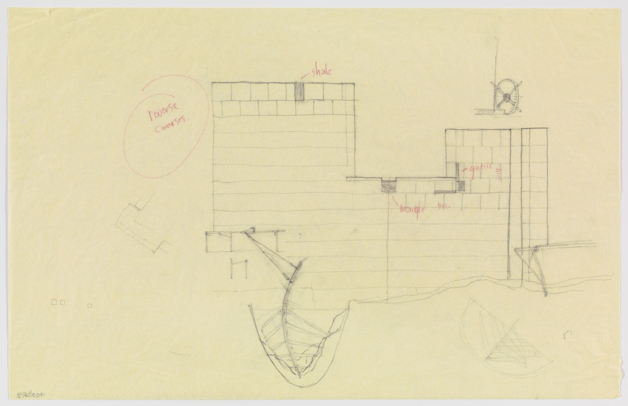 Douglas Darden. Oxygen House Project (Elevation). 1988