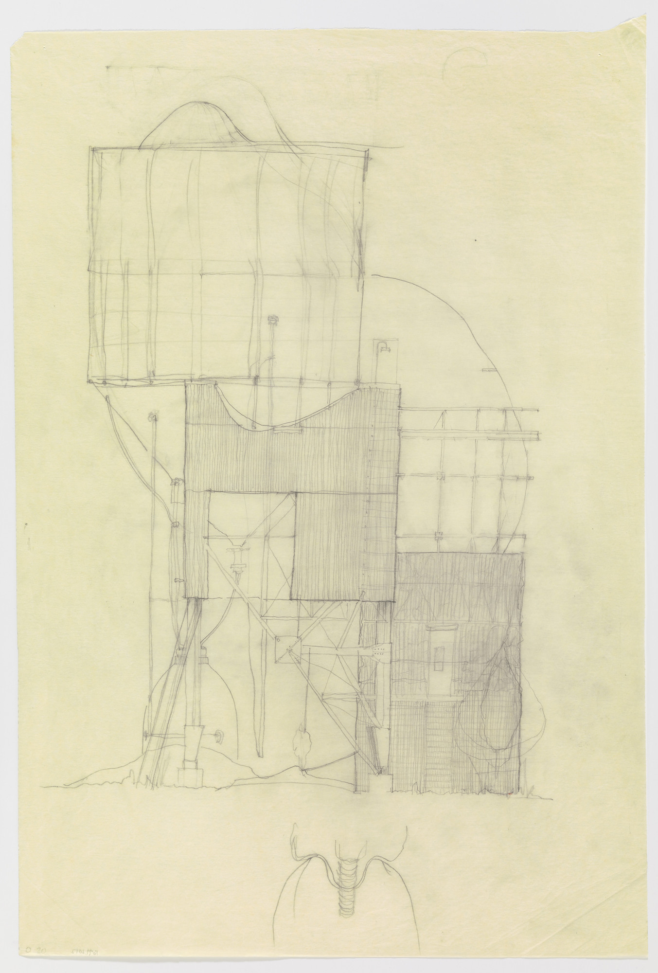 Douglas Darden. Oxygen House Project (Section). 1988