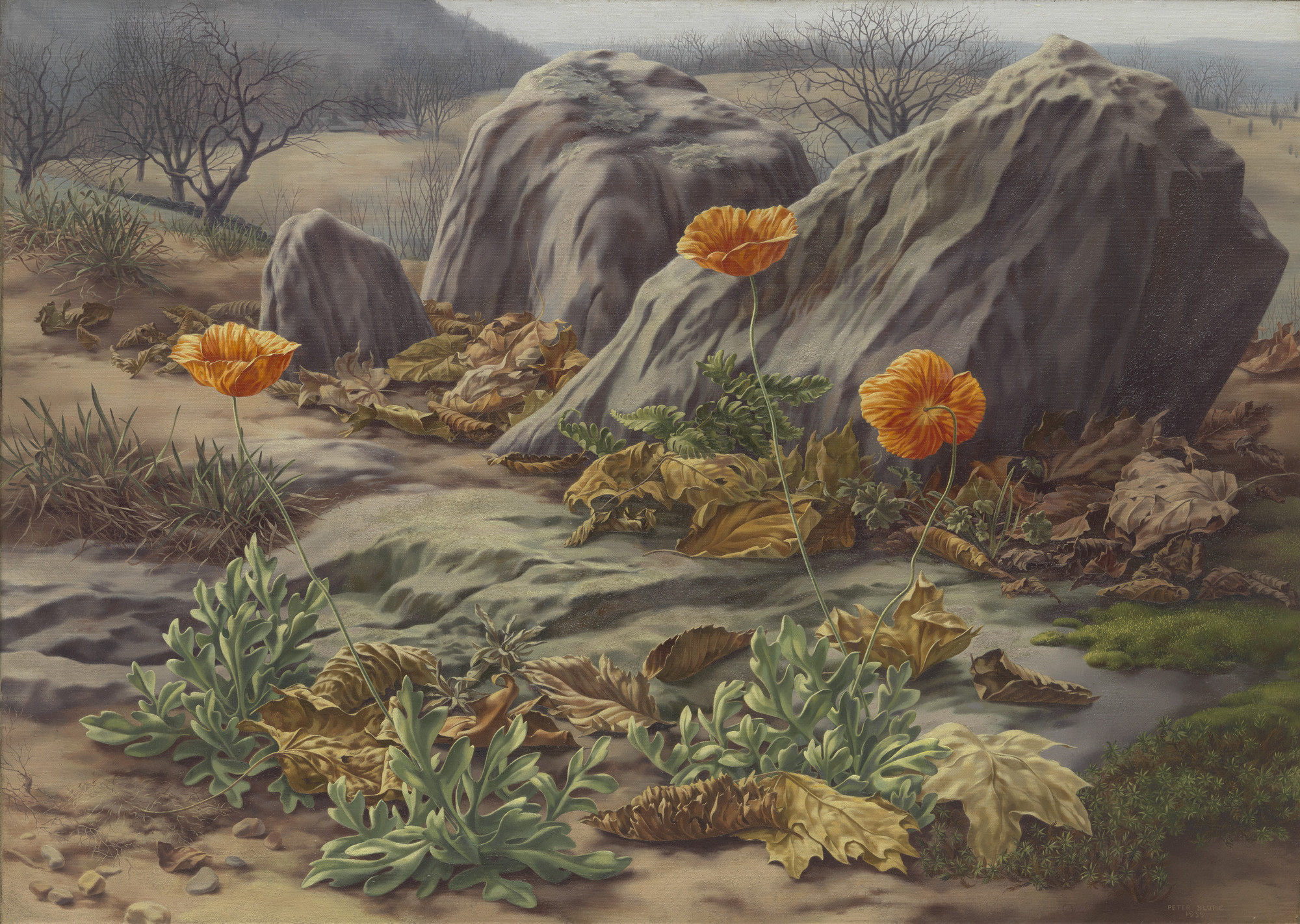 Peter Blume. Landscape with Poppies. 1939