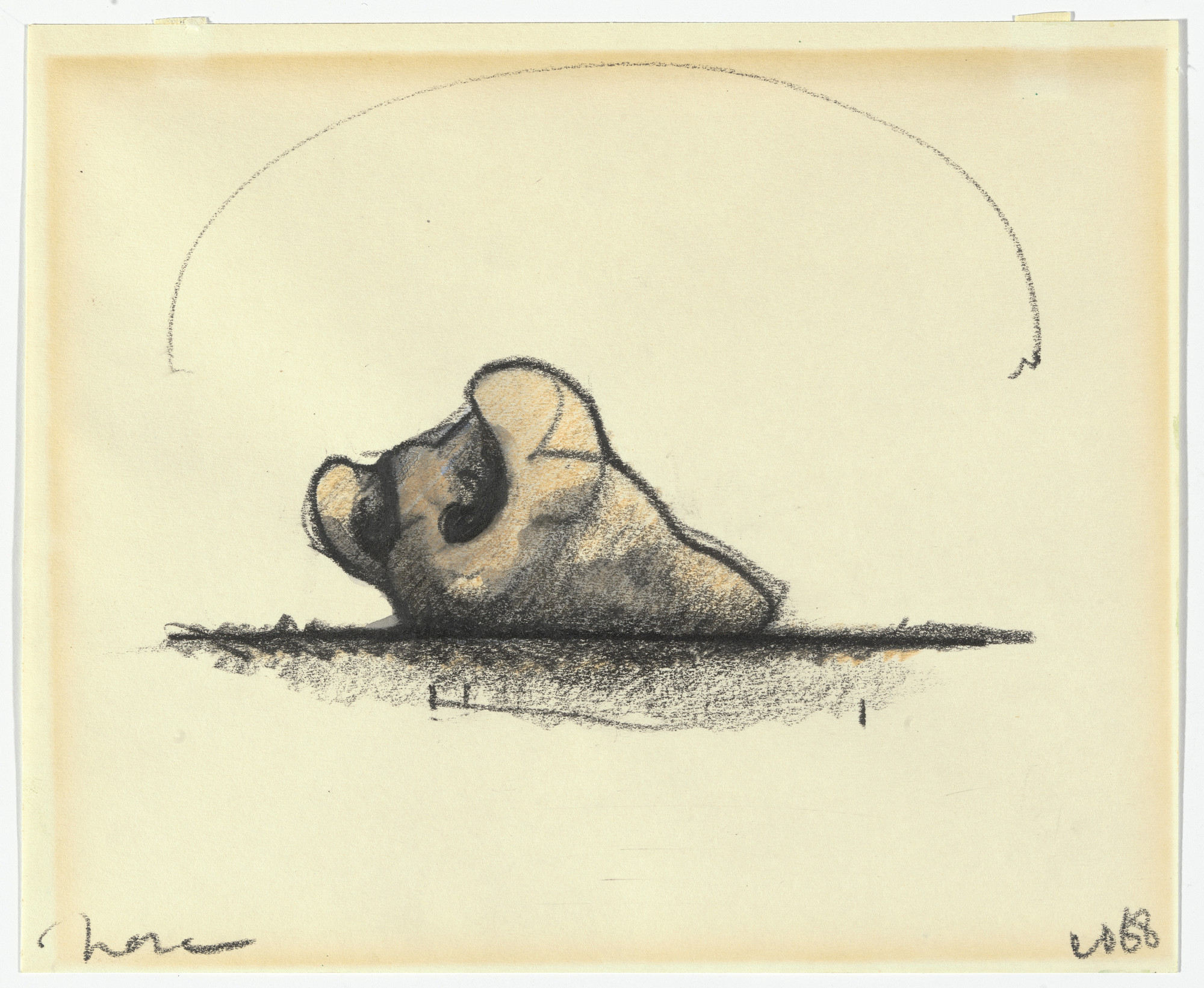 Claes Oldenburg. Inverted Nose in Landscape I. 1968