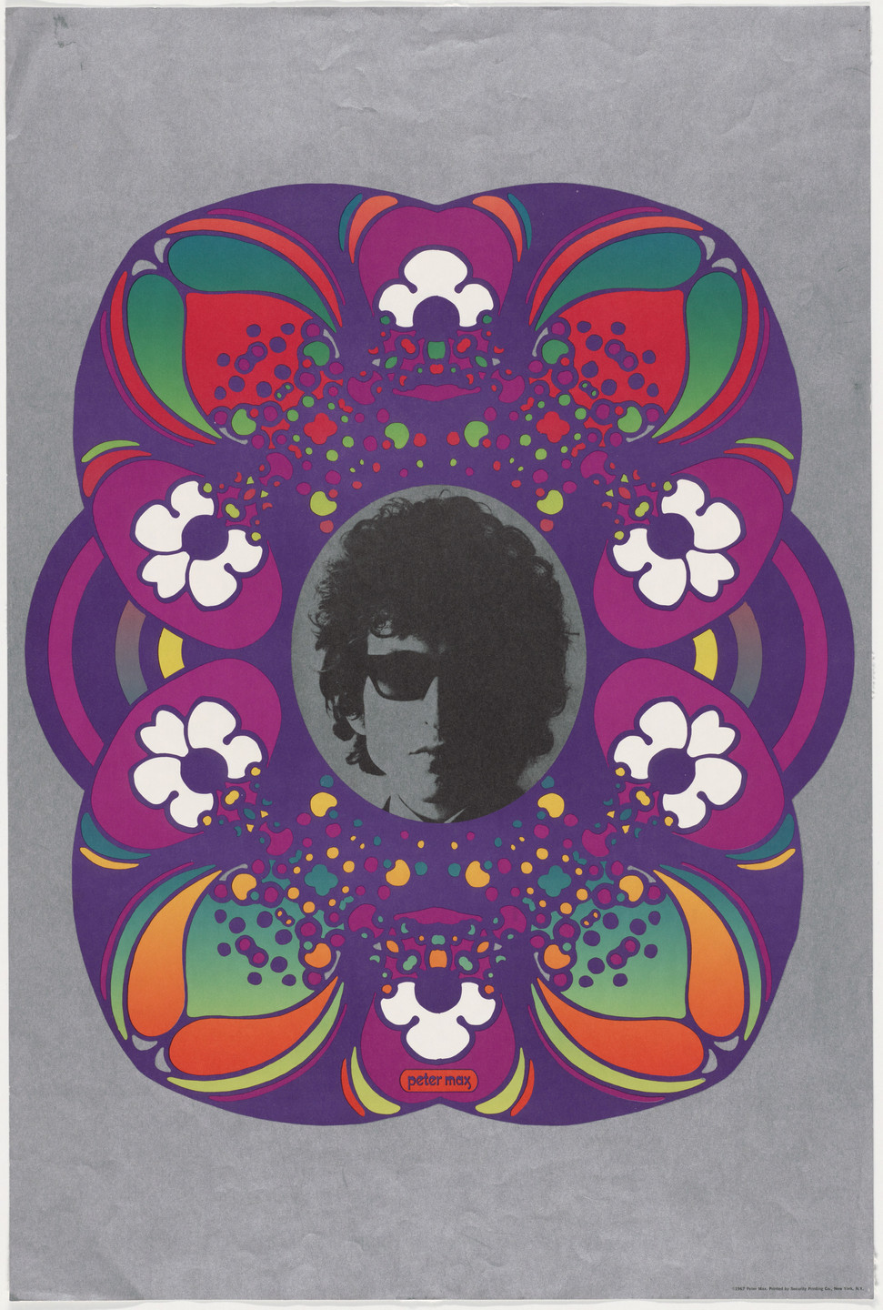 Peter Max. Untitled (Bob Dylan). 1967