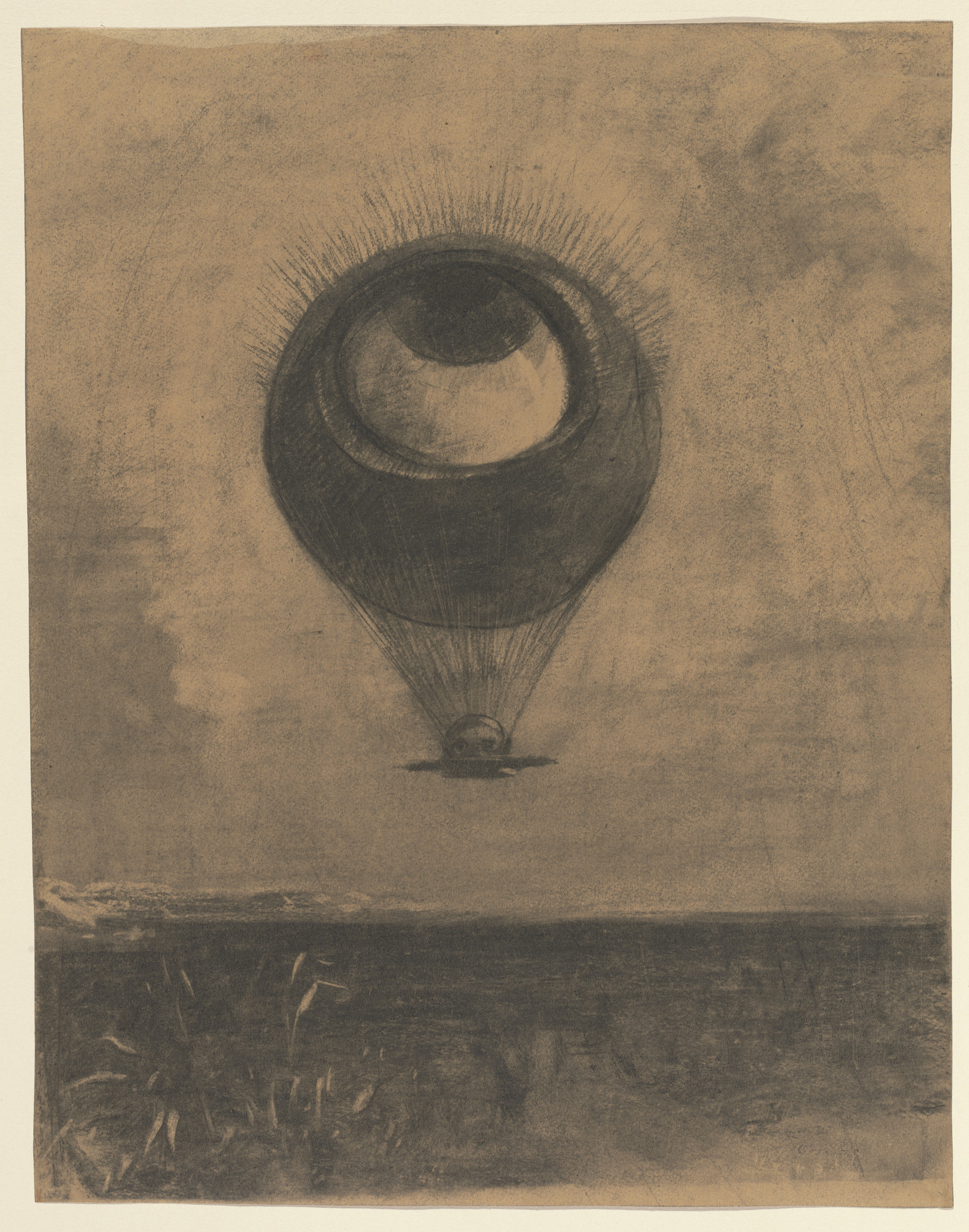 Odilon Redon Eye-Balloon (Œil-ballon) 1878