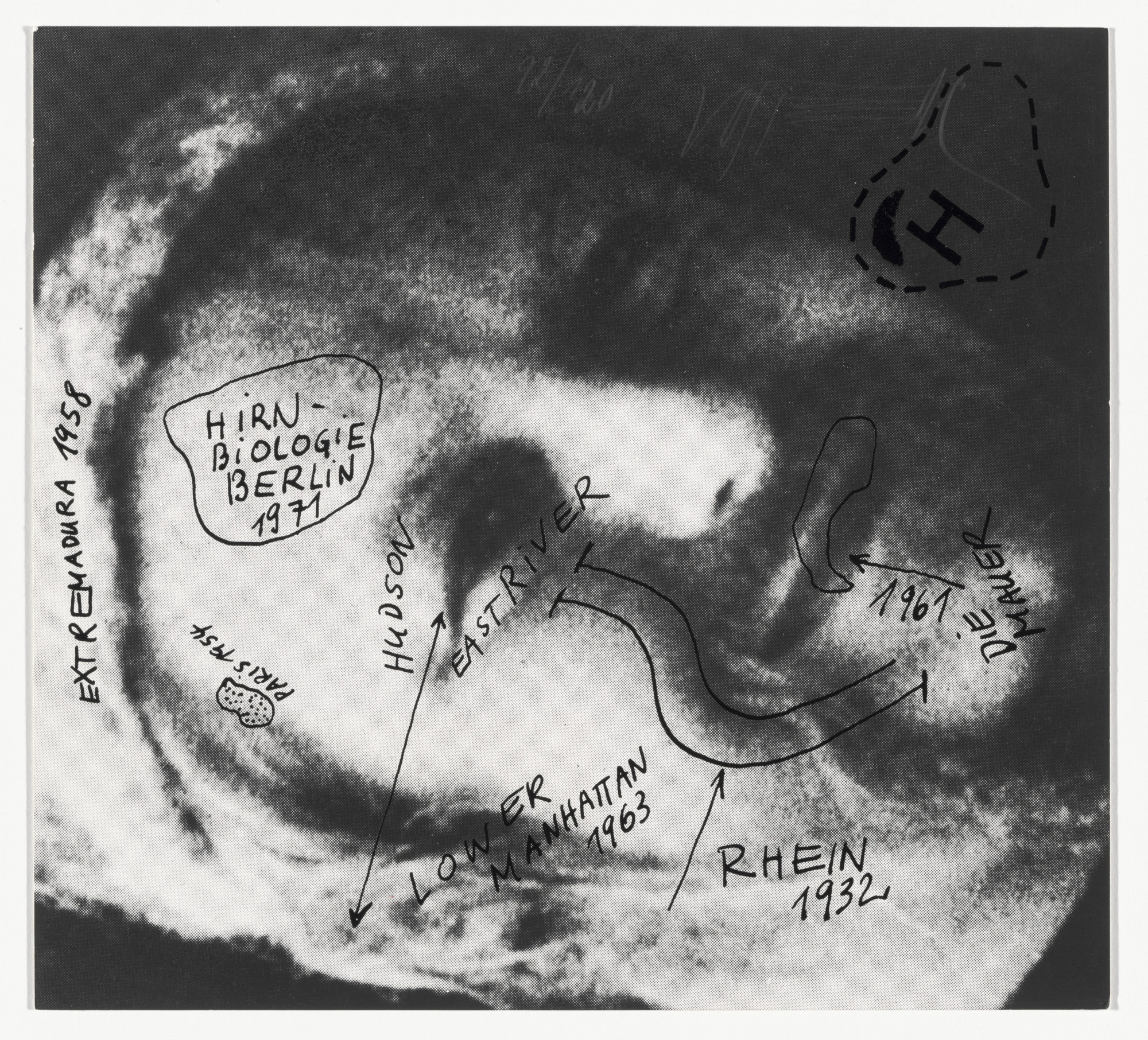 Wolf Vostell Self Portrait Selbstbildnis From Graphics Of