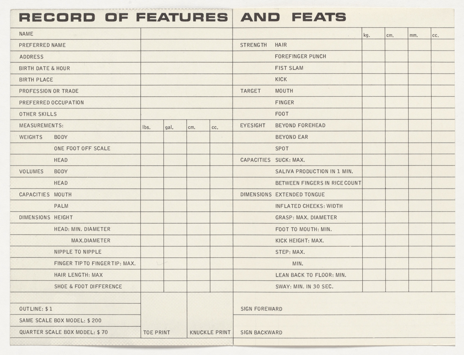 Hi Red Center. Fluxclinic Record of Features and Feats. 1966