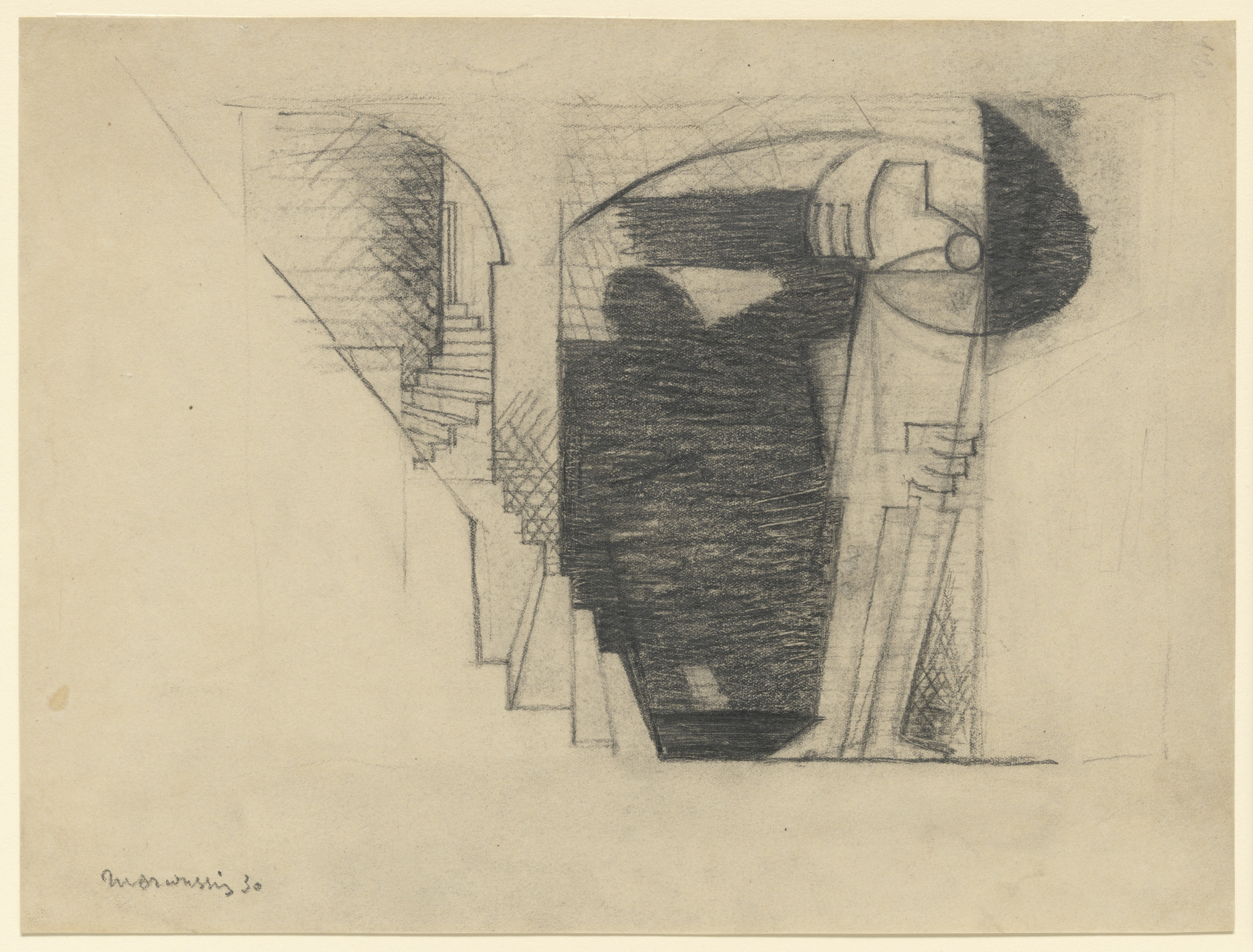 Louis Marcoussis. Stairway with Figure. 1930