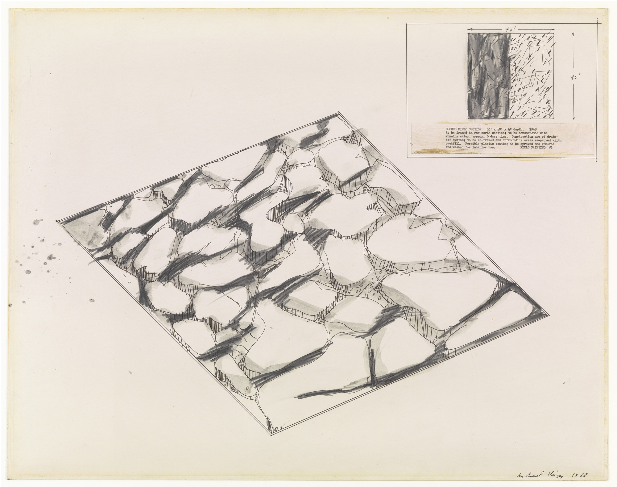 Michael Heizer. Field Painting No. 2. 1968