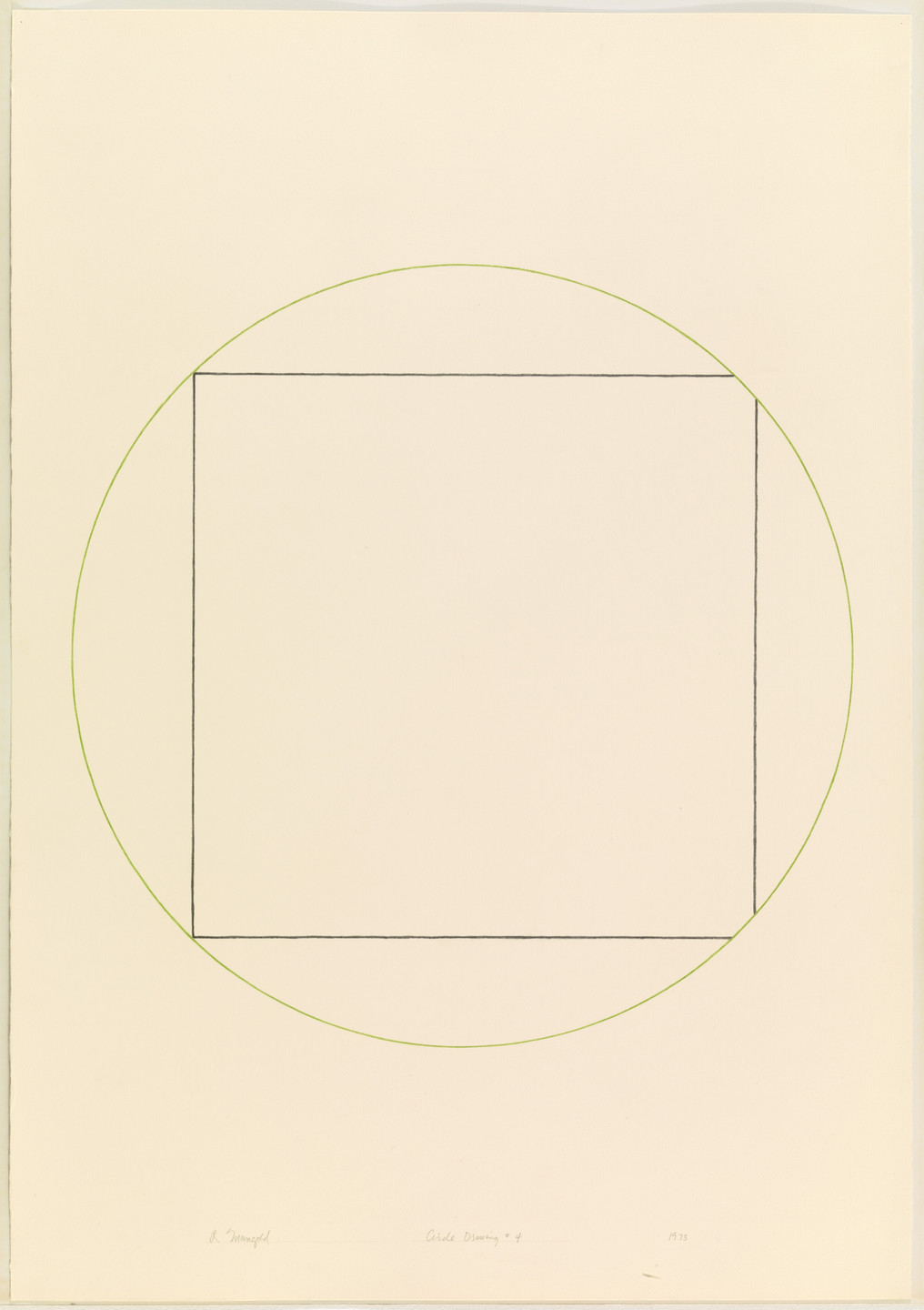 Robert Mangold. Circle Drawing #4. 1973