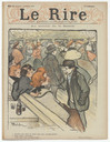 Henri de Toulouse-Lautrec, Théophile-Alexandre Steinlen. At the Moulin de la Galette (Au Moulin de la Galette) and Skating, Professional Beauty from the journal Le Rire, no. 62. 1896