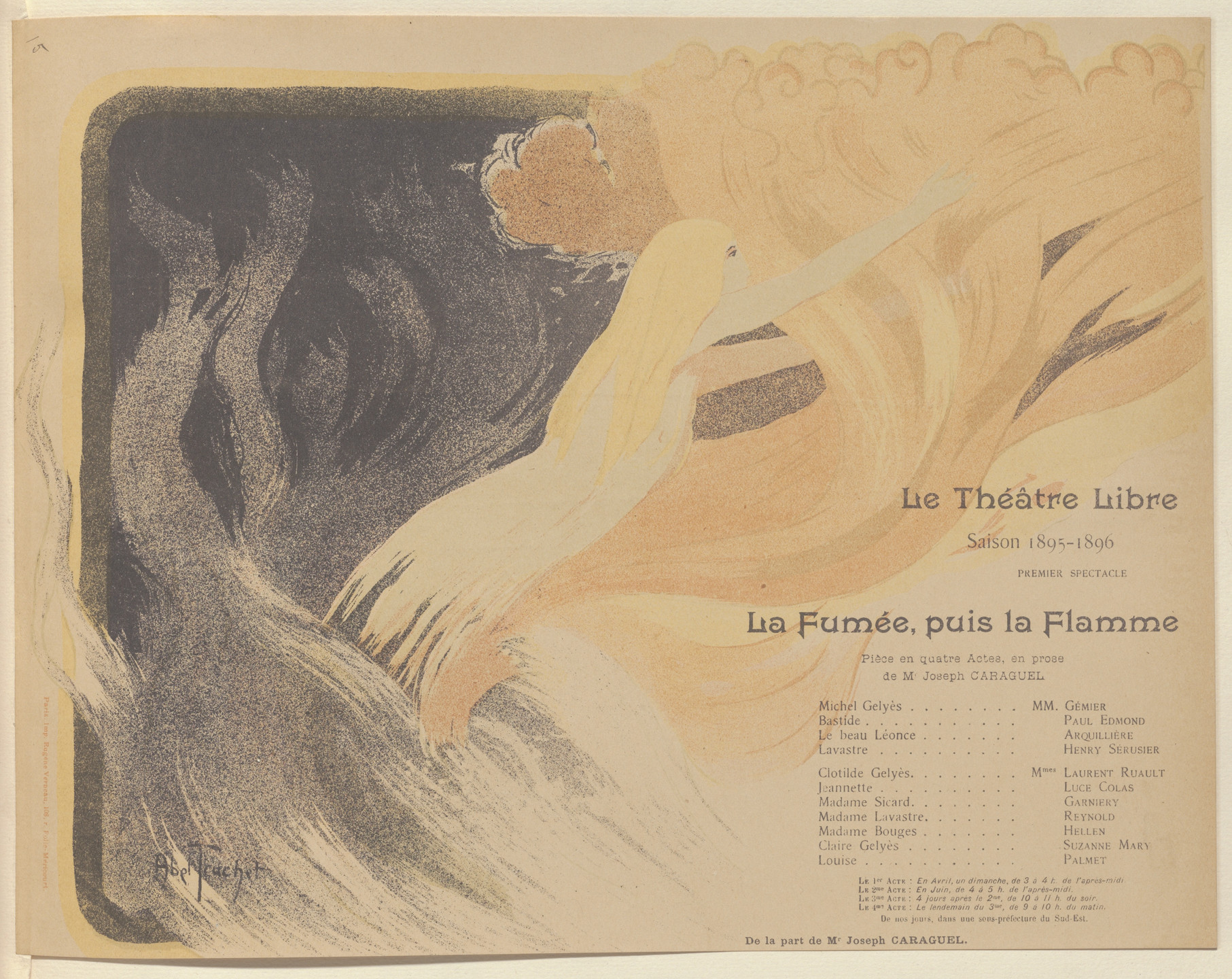Louis Abel-Truchet. Program for Smoke then Flame (La Fumée, puis la Flamme) from The Beraldi Album of Theatre Programs. 1895