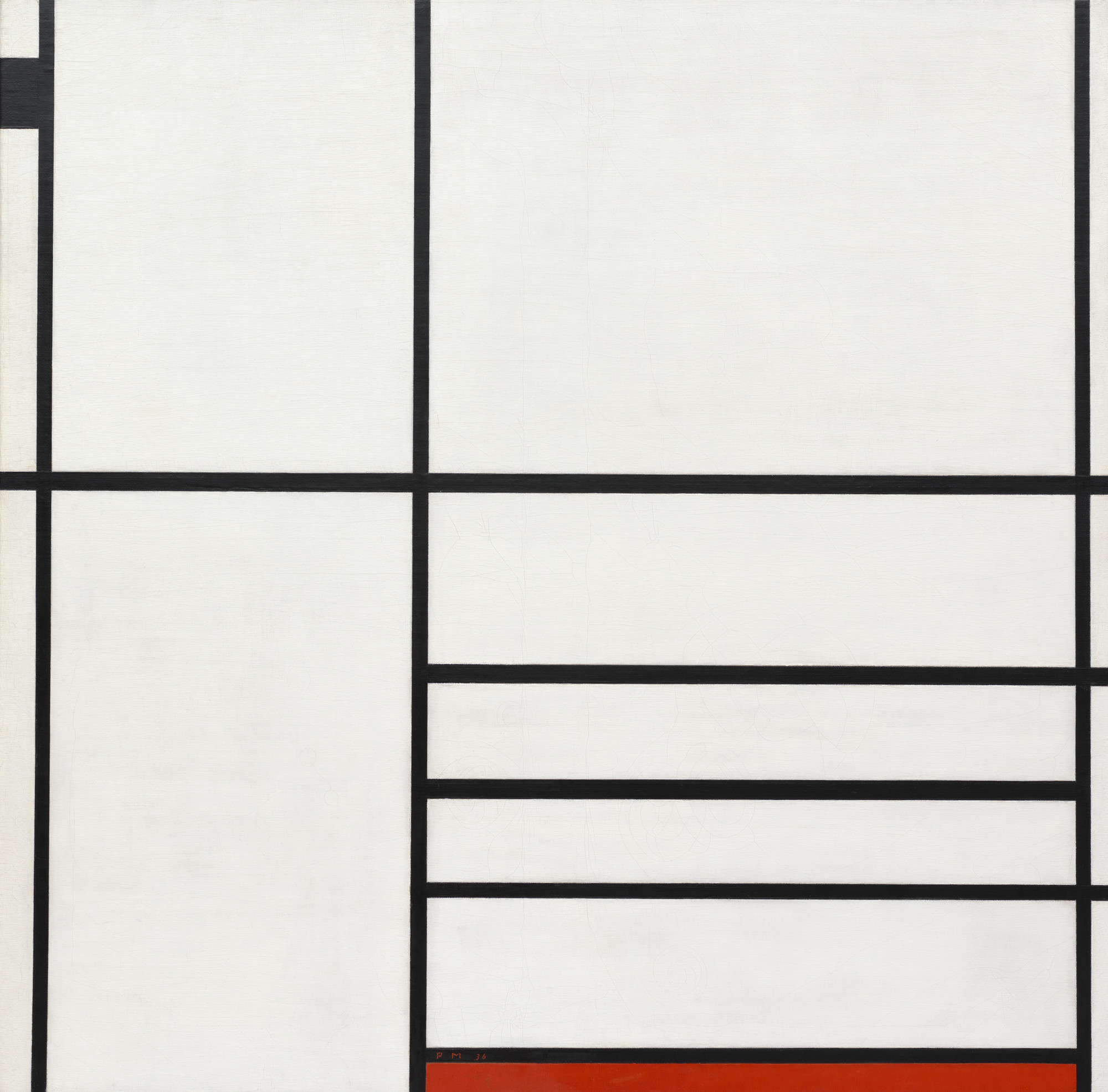 Piet Mondrian. Composition in White, Black, and Red. Paris 1936