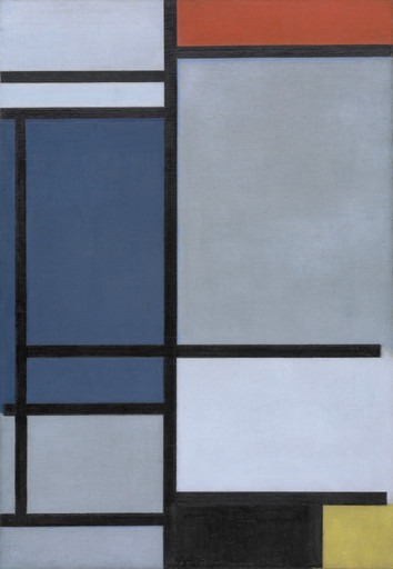 Piet Mondrian. Composition with Red, Blue, Black, Yellow, and Gray. 1921